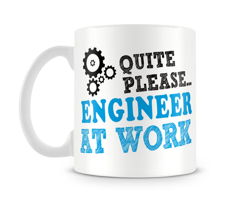 "Tazza MUG ""Quite please engineer at work"" - LaMAGLIERIA"