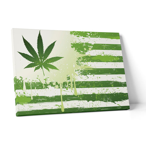 "Quadro in Tela Canvas ""United States Of Weed"" - LaMAGLIERIA"