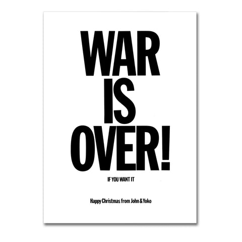 "Poster in Carta Fotografica ""War Is Over"" - LaMAGLIERIA"