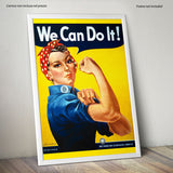 "Poster in Carta Fotografica ""We Can Do It"" - LaMAGLIERIA"