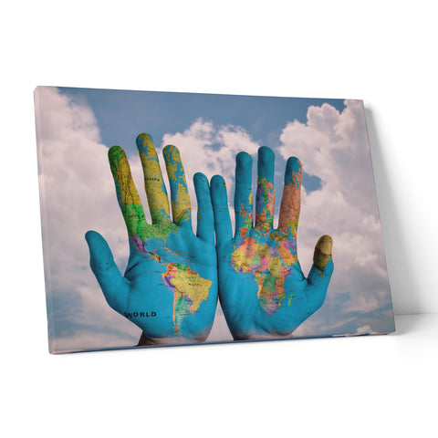 "Quadro in Tela Canvas ""World In Your Hands"" - LaMAGLIERIA"