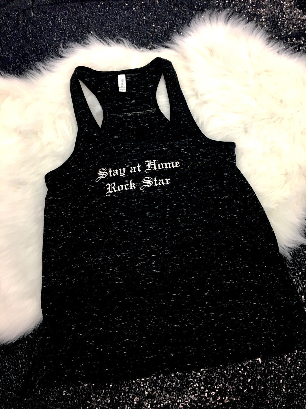 Sample - Stay at Home Rock Star™ Racer Back Tank Top