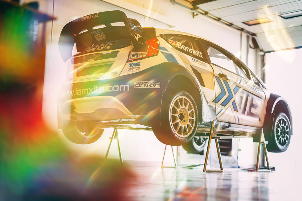 Oliver Bennett gets first taste of Abu Dhabi Rallycross circuit