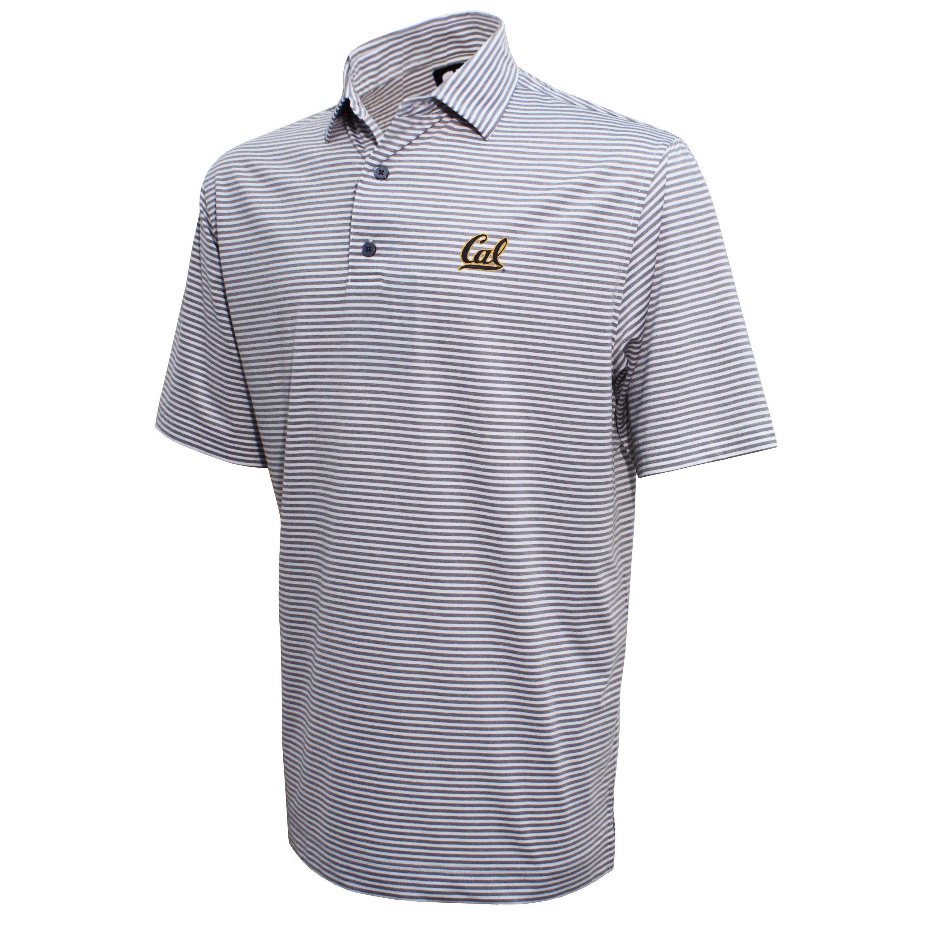 FootJoy Cal Berkeley University Lisle Feeder Stripe Polo Shirt