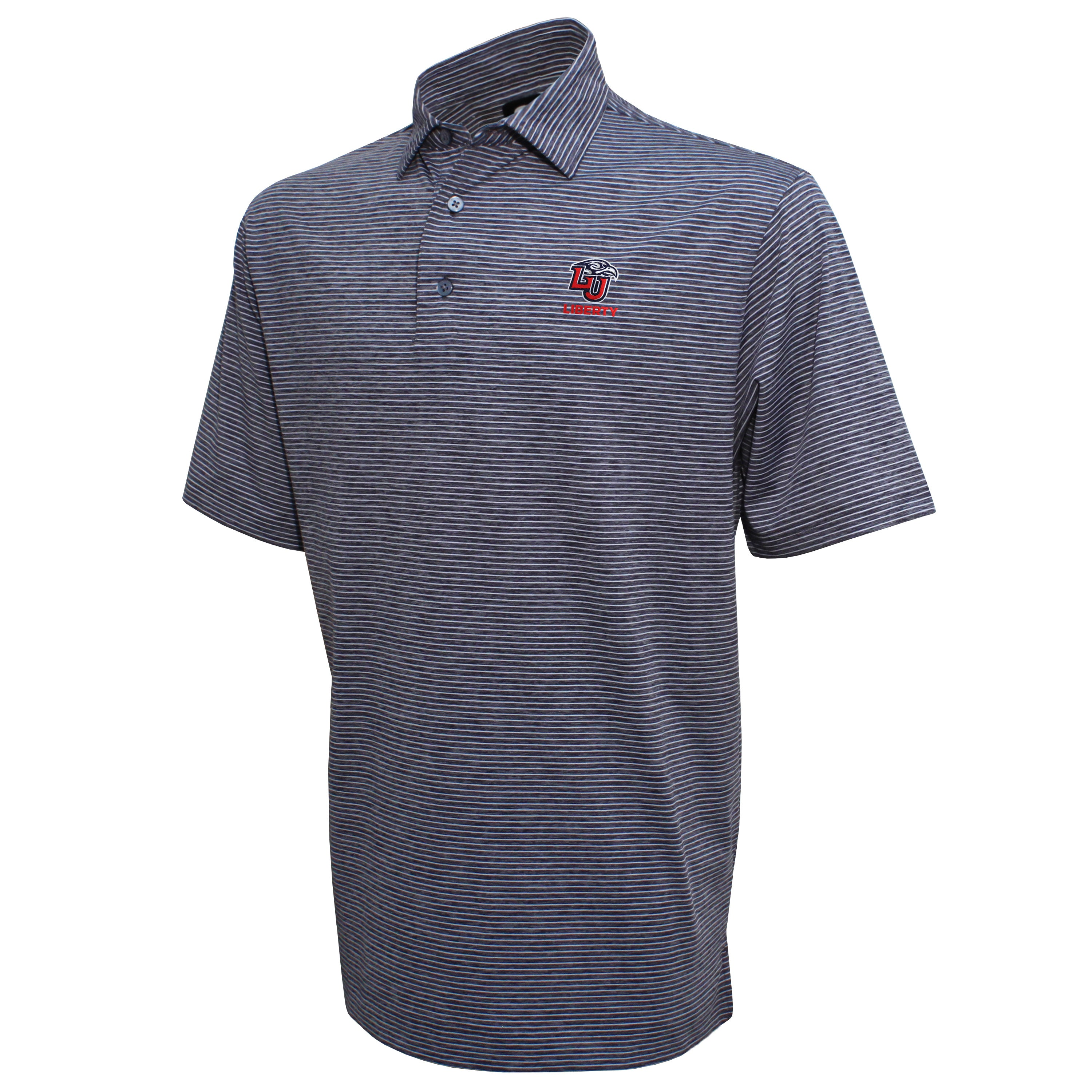 FootJoy Liberty Heather Pinstripe Lisle Polo Shirt