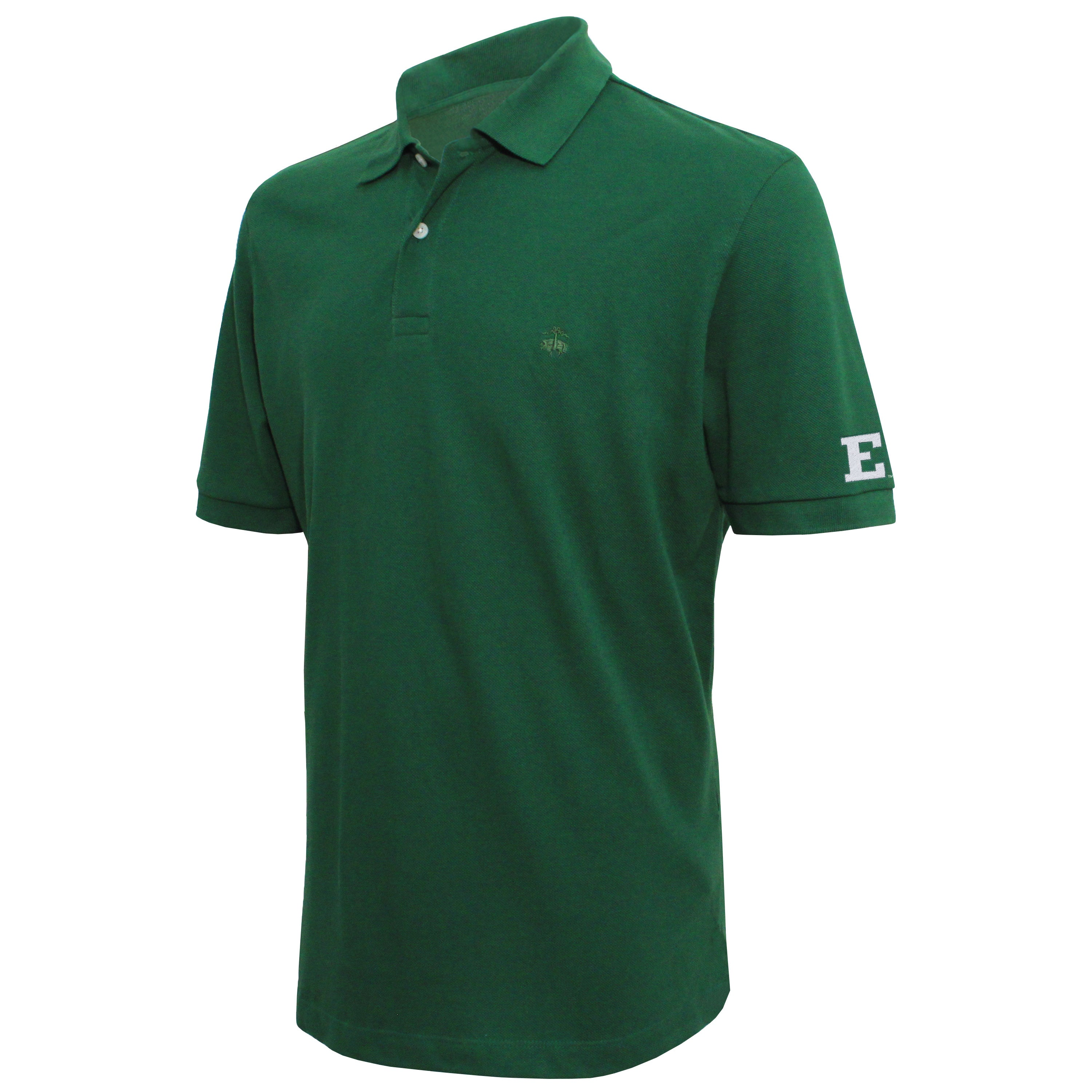 Brooks Brothers Eastern Michigan Men's Green Slim Fit Pique Polo Shirt