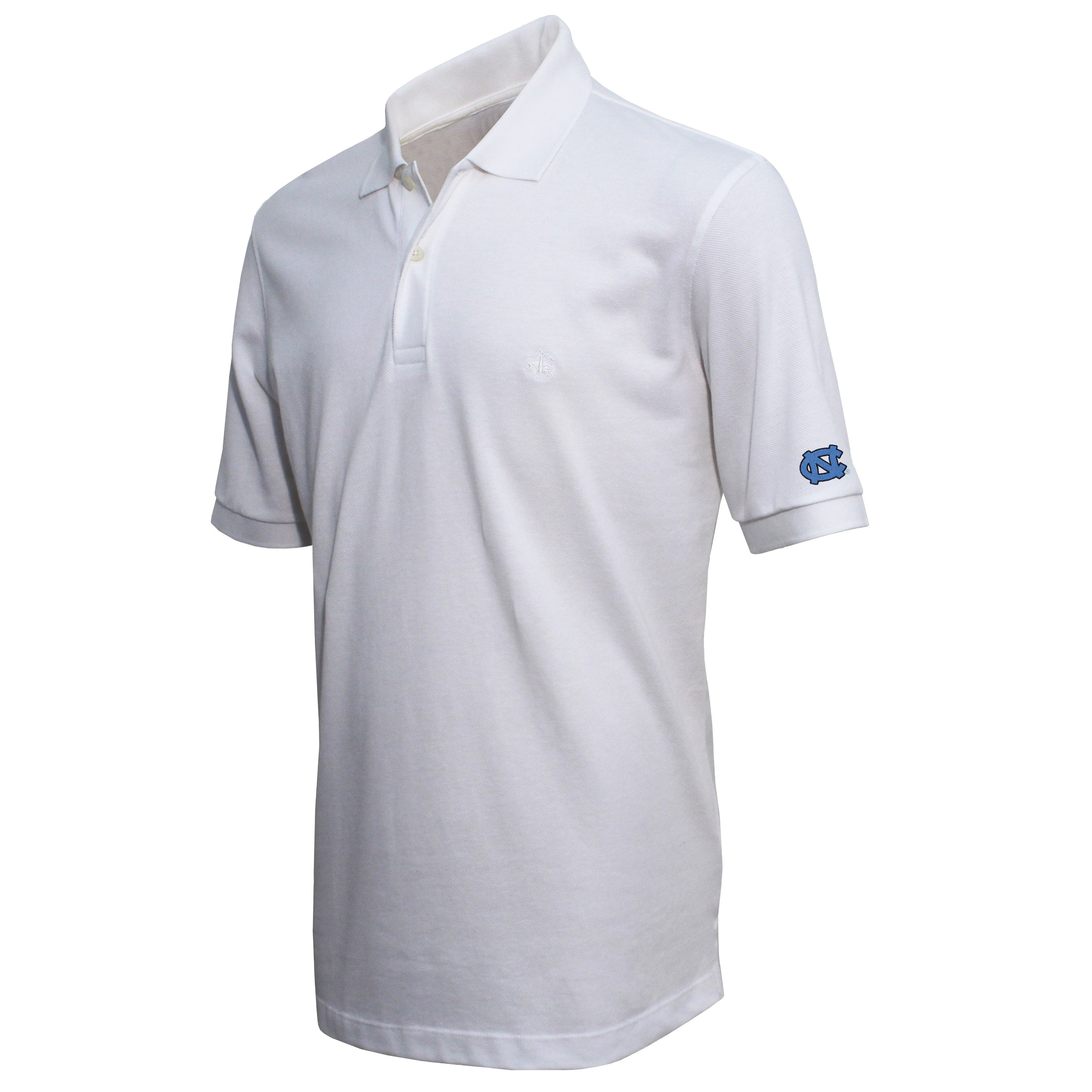 Brooks Brothers North Carolina Men's White Slim Fit Pique Polo Shirt