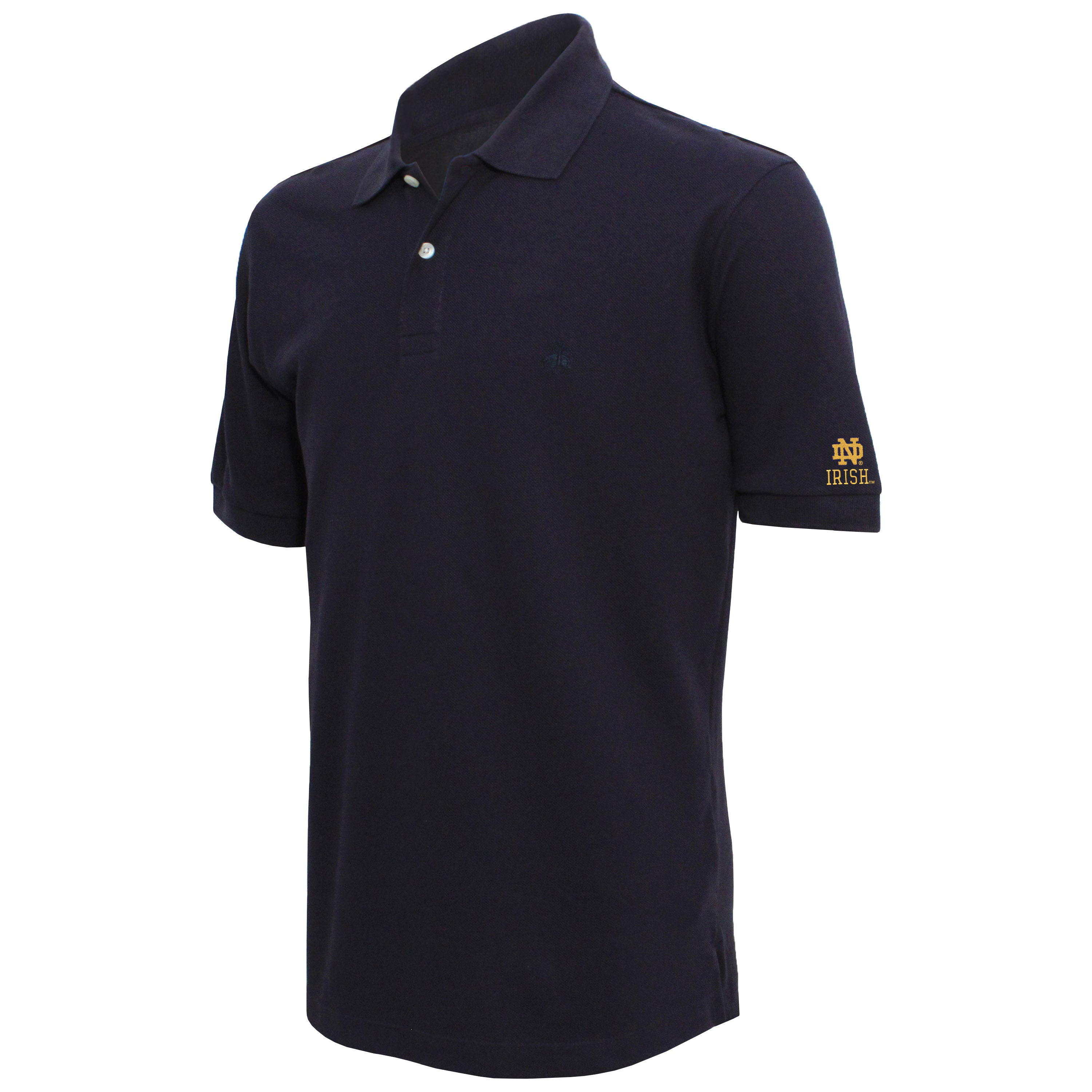 Brooks Brothers Notre Dame Men's Navy Slim Fit Pique Polo Shirt