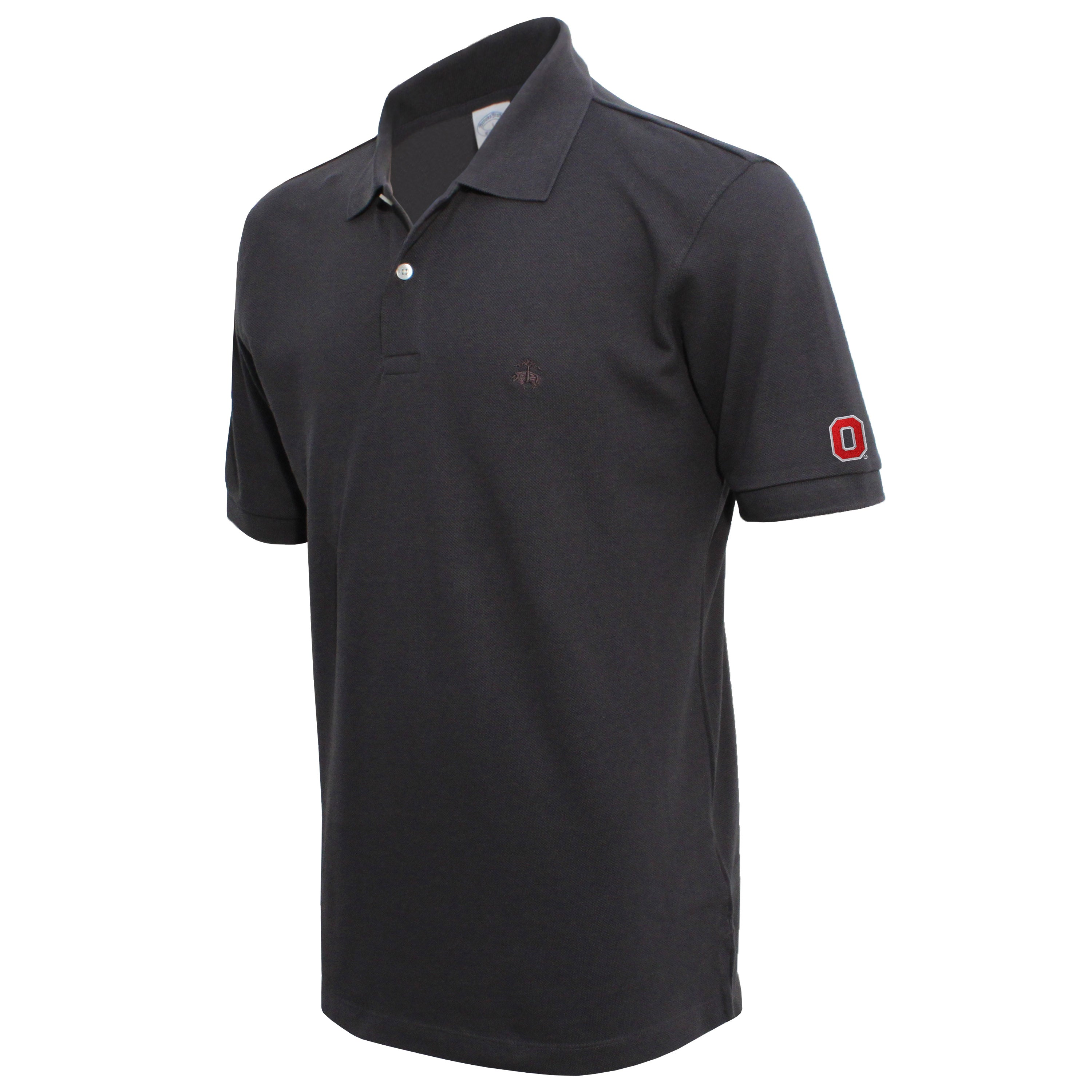 Brooks Brothers Ohio State Men's Carbon Slim Fit Pique Polo Shirt