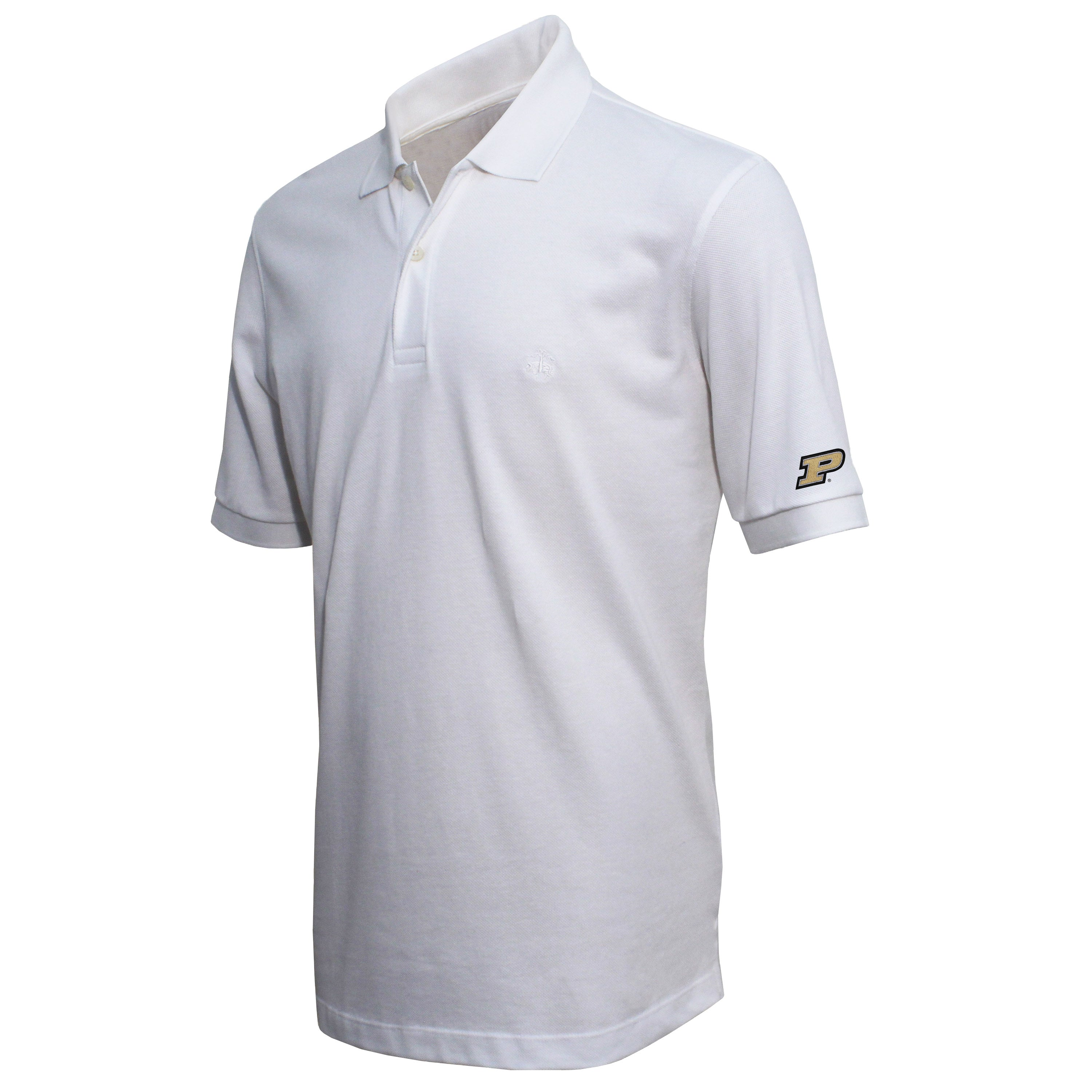 Brooks Brothers Purdue Men's White Slim Fit Pique Polo Shirt