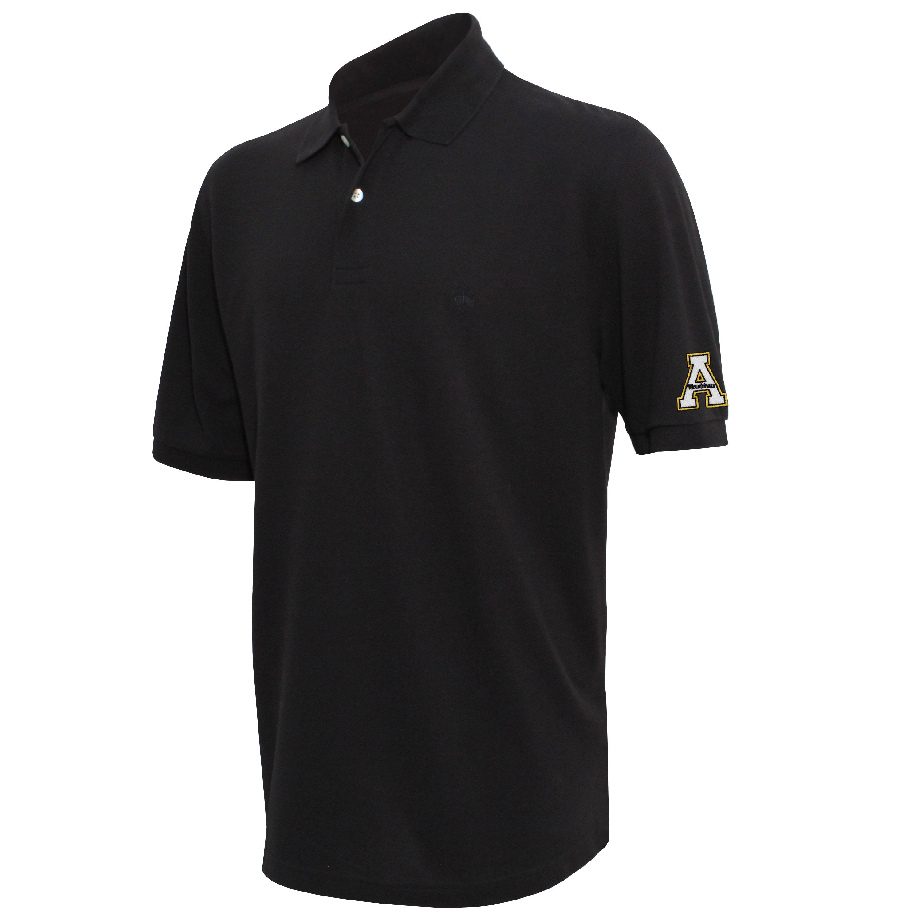 Brooks Brothers Appalachian State Men's Black Original Fit Pique Polo Shirt