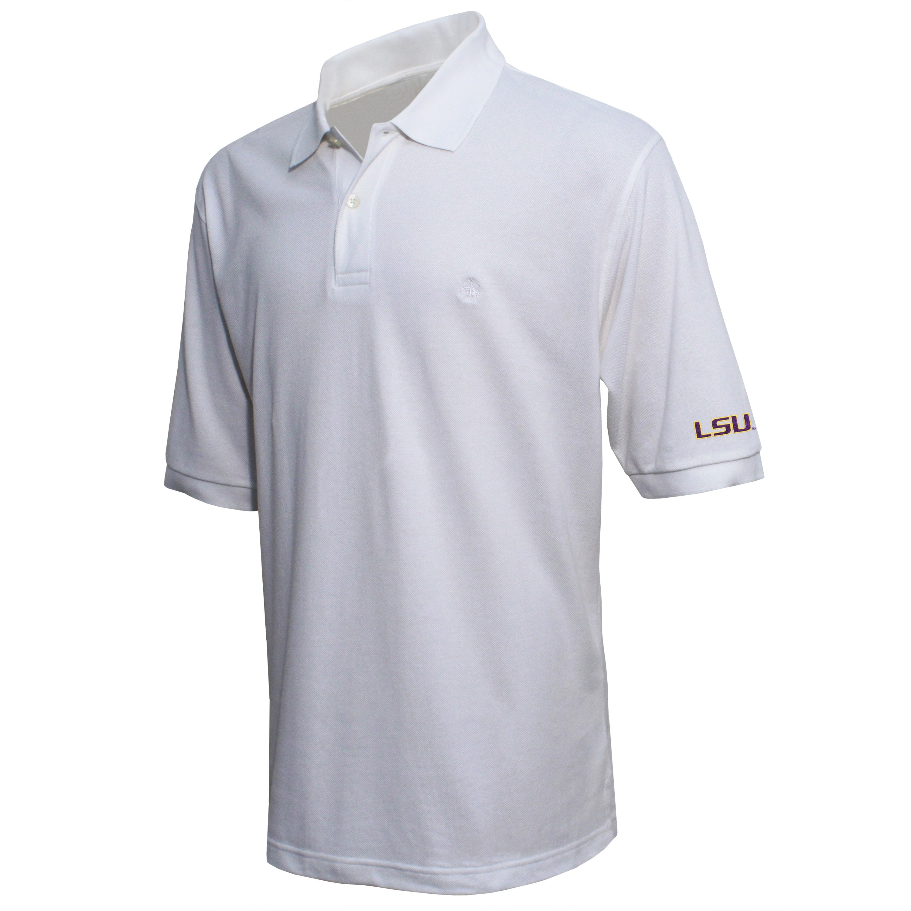 Brooks Brothers Louisiana State Men's White Original Fit Pique Polo Shirt