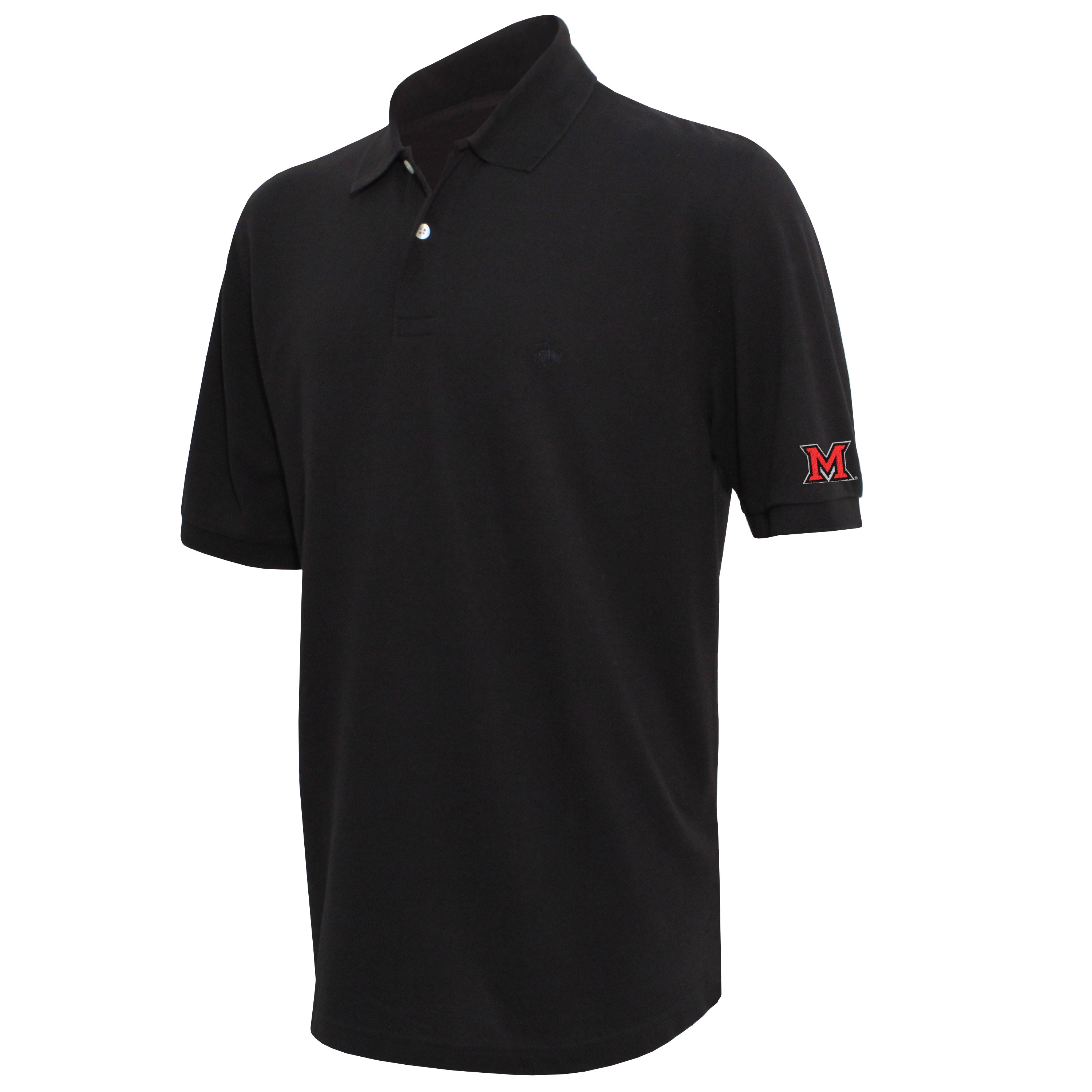 Brooks Brothers Miami Men's Black Original Fit Pique Polo Shirt