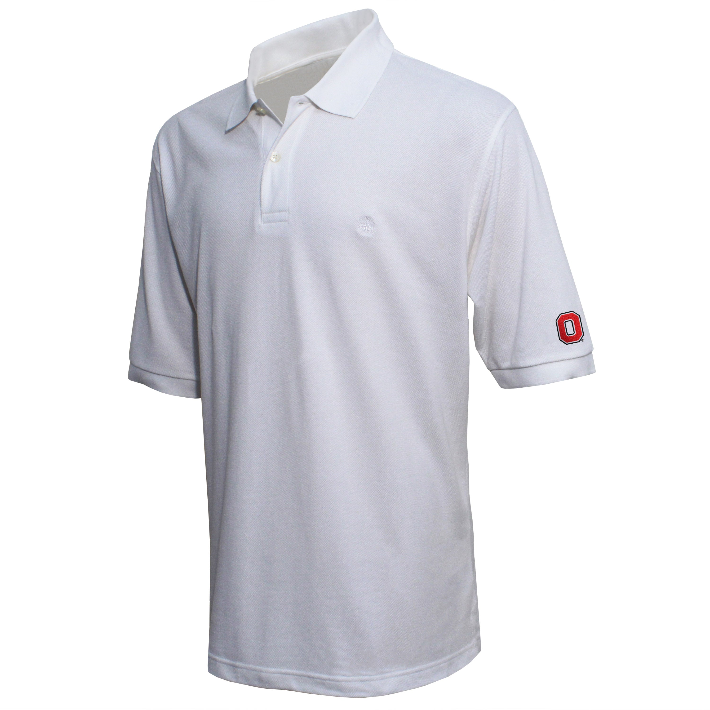 Brooks Brothers Ohio State Men's White Original Fit Pique Polo Shirt