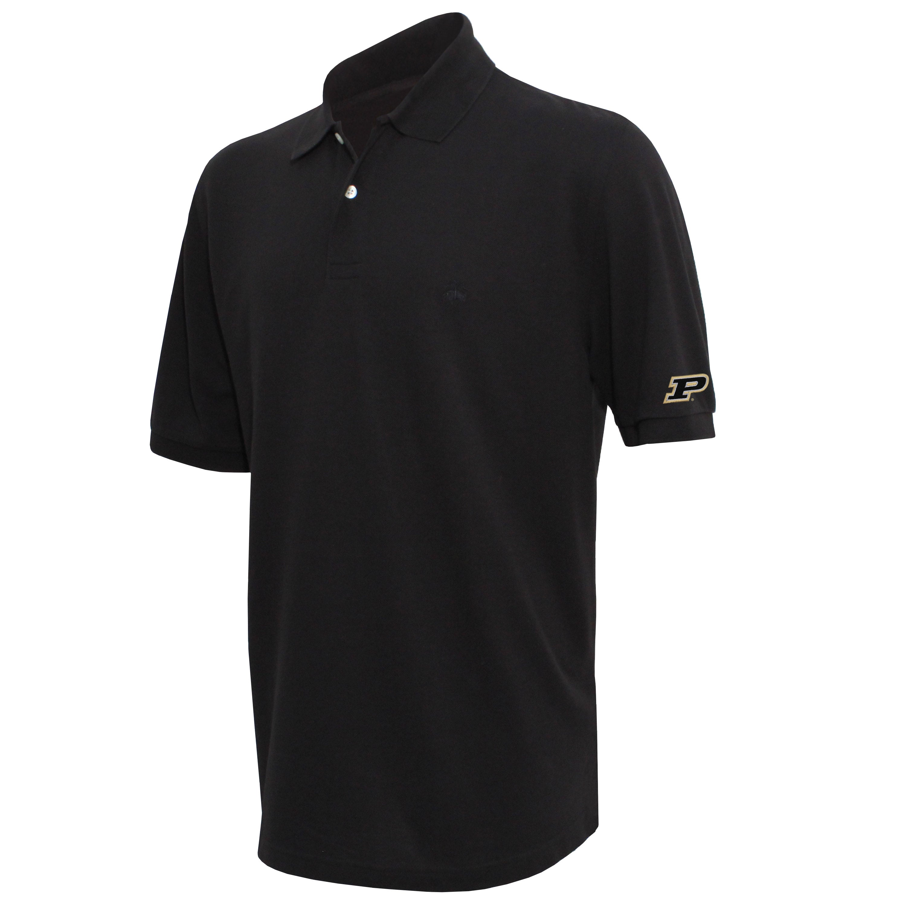 Brooks Brothers Purdue Men's Black Original Fit Pique Polo Shirt