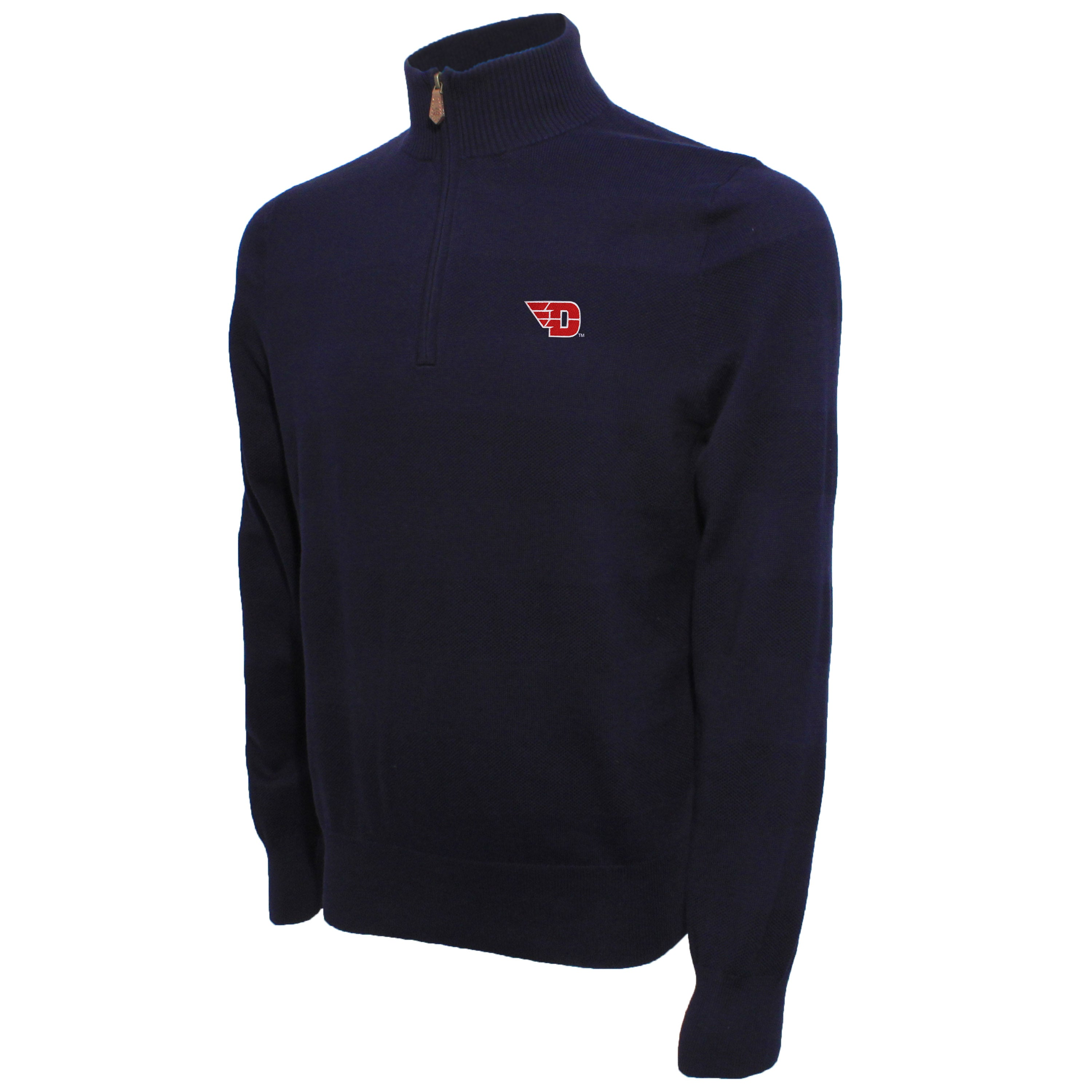 Brooks Brothers Dayton Men's Navy Quarter Zip Sweater