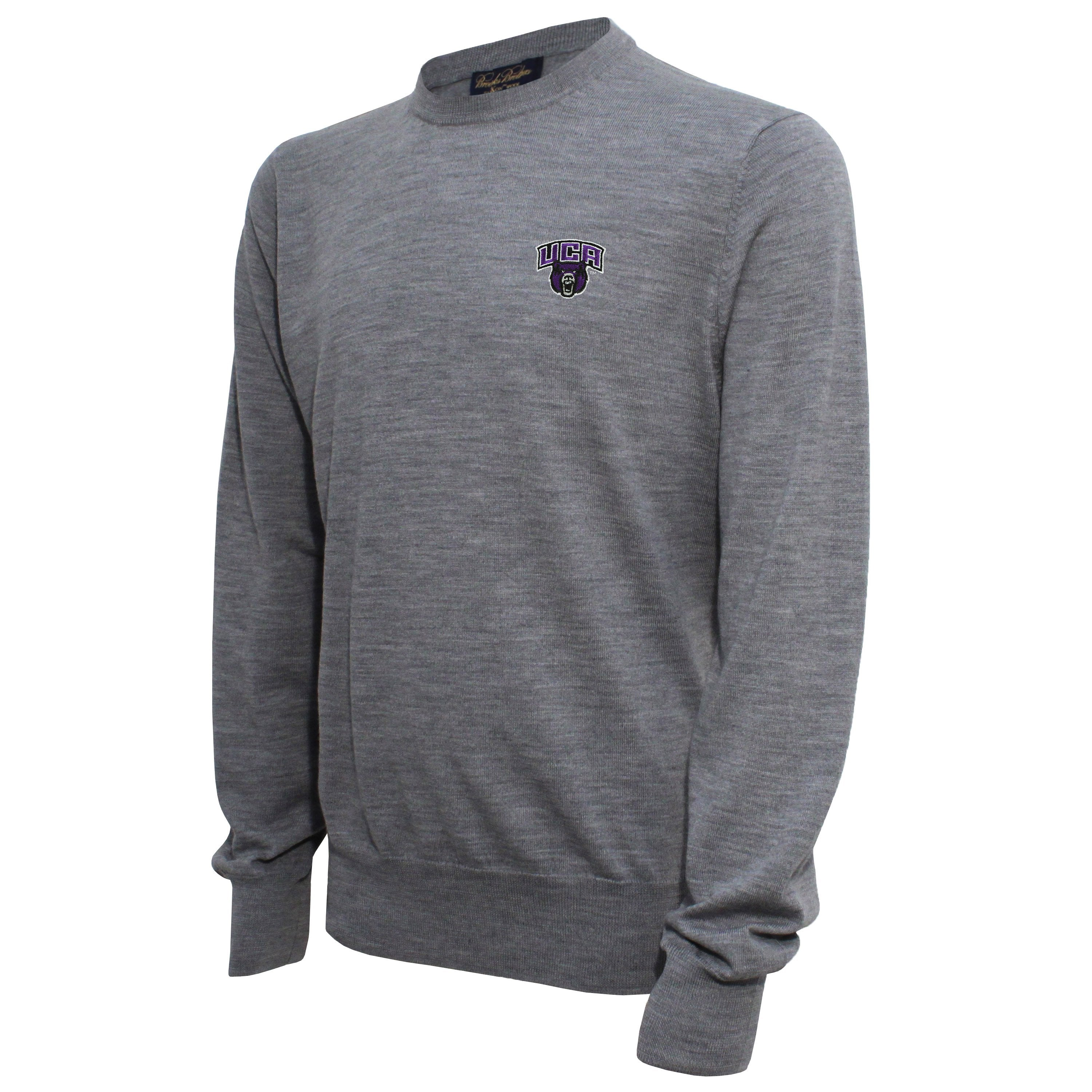 Brooks Brothers Central Arkansas  Men's Gray Crew Neck Sweater