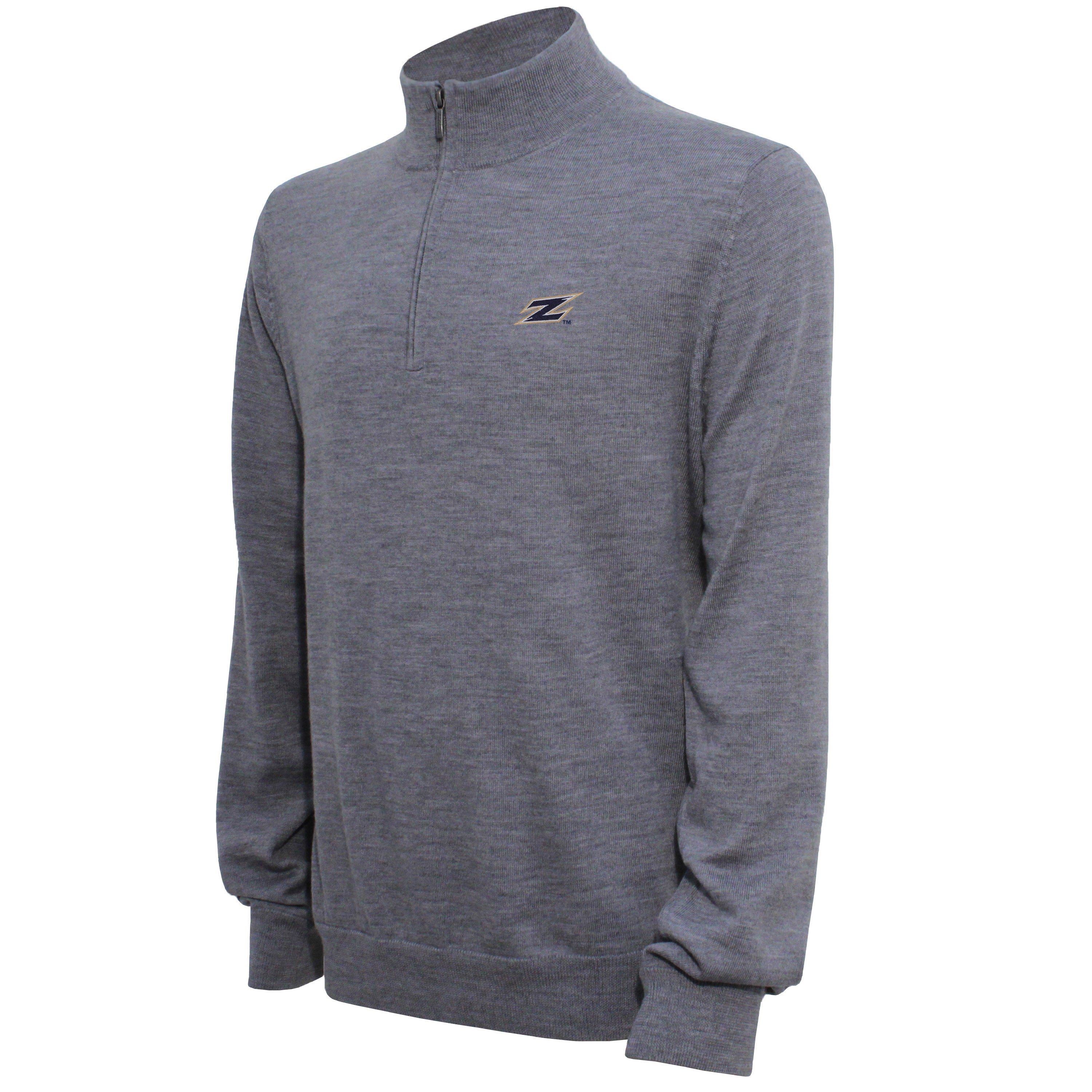 Brooks Brothers Akron Men's Gray Quarter Zip Sweater