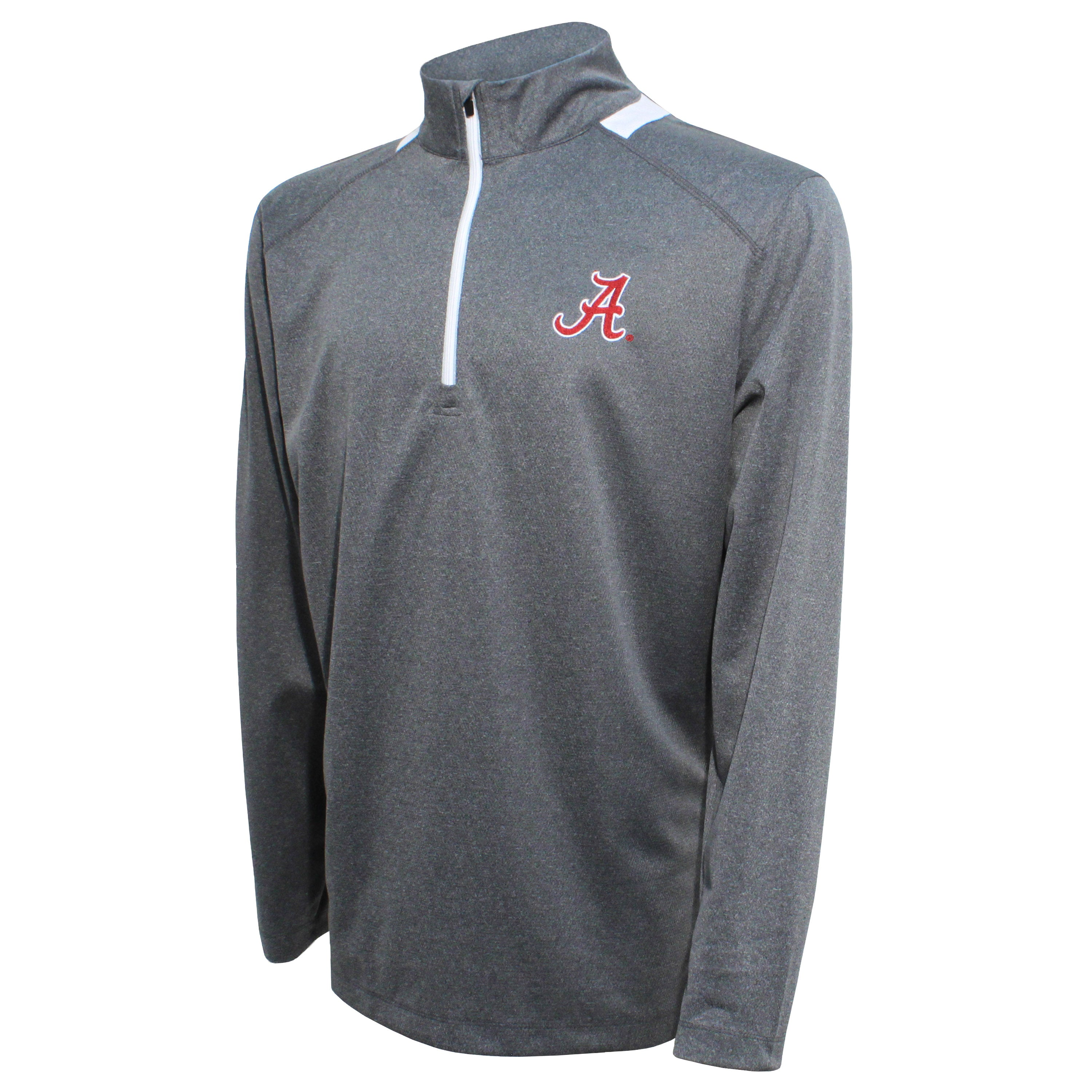Crable Alabama Men's Gray Quarter Zip With Neck Panel
