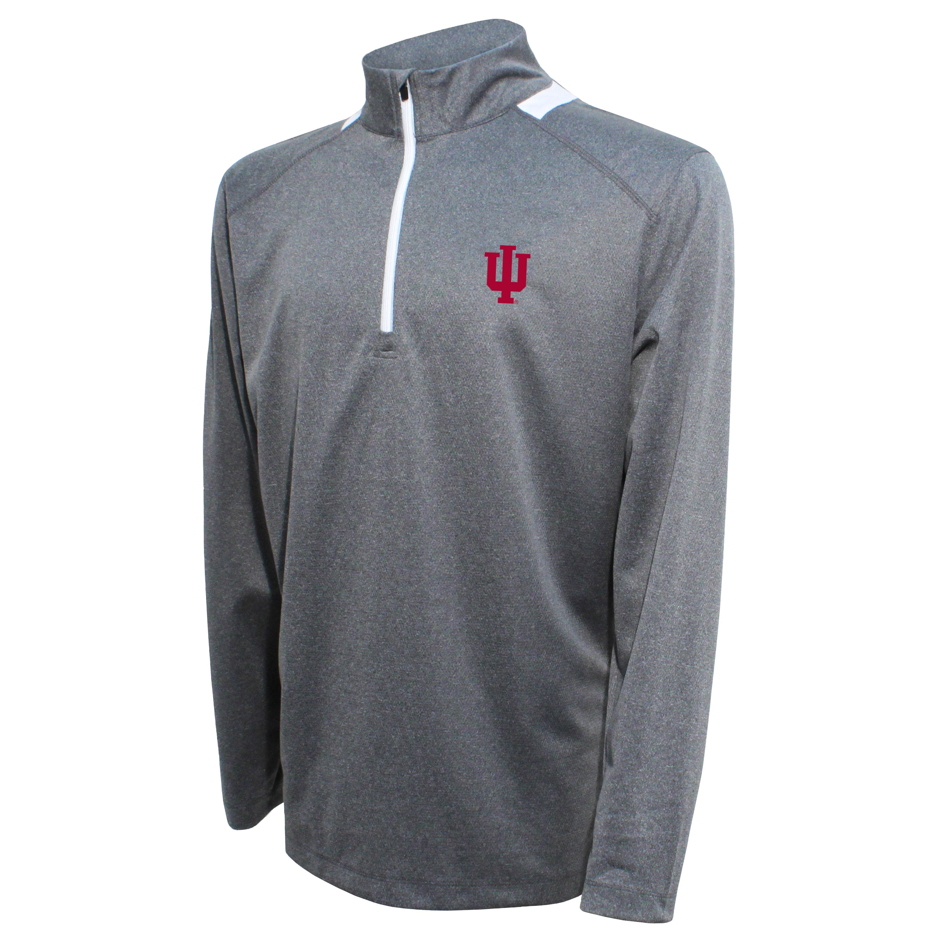 Crable Indiana Men's Gray Quarter Zip With Neck Panel