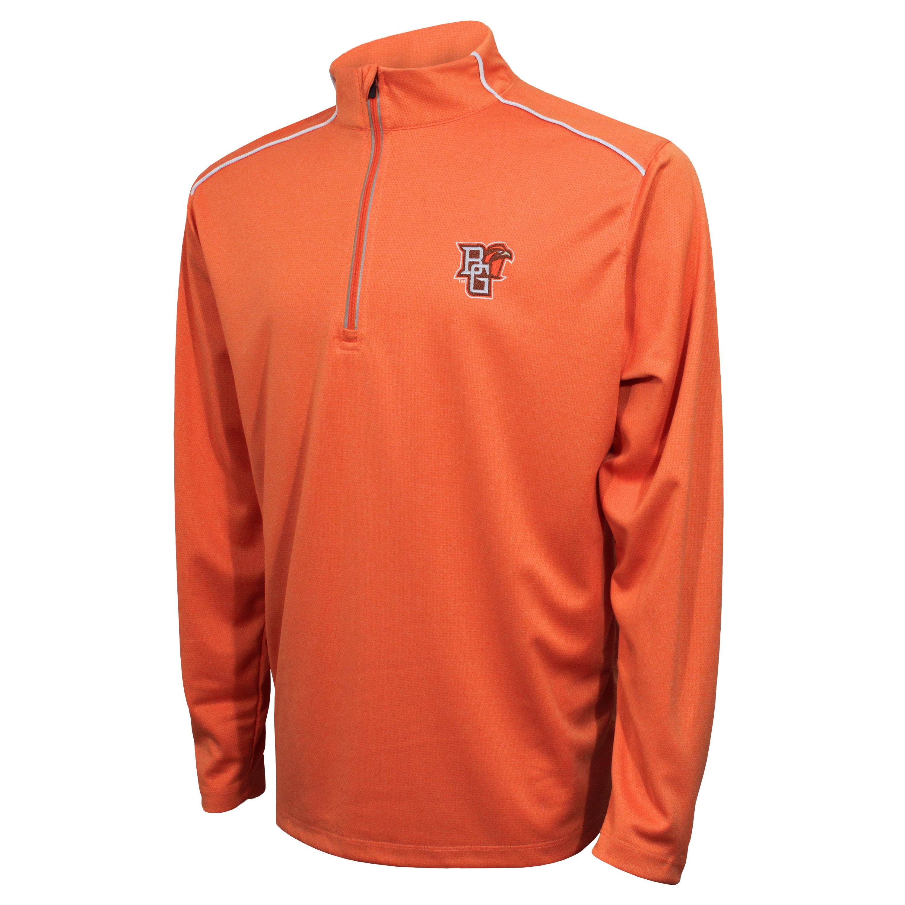 Crable Bowling Green Men's Orange Quarter Zip With Piping