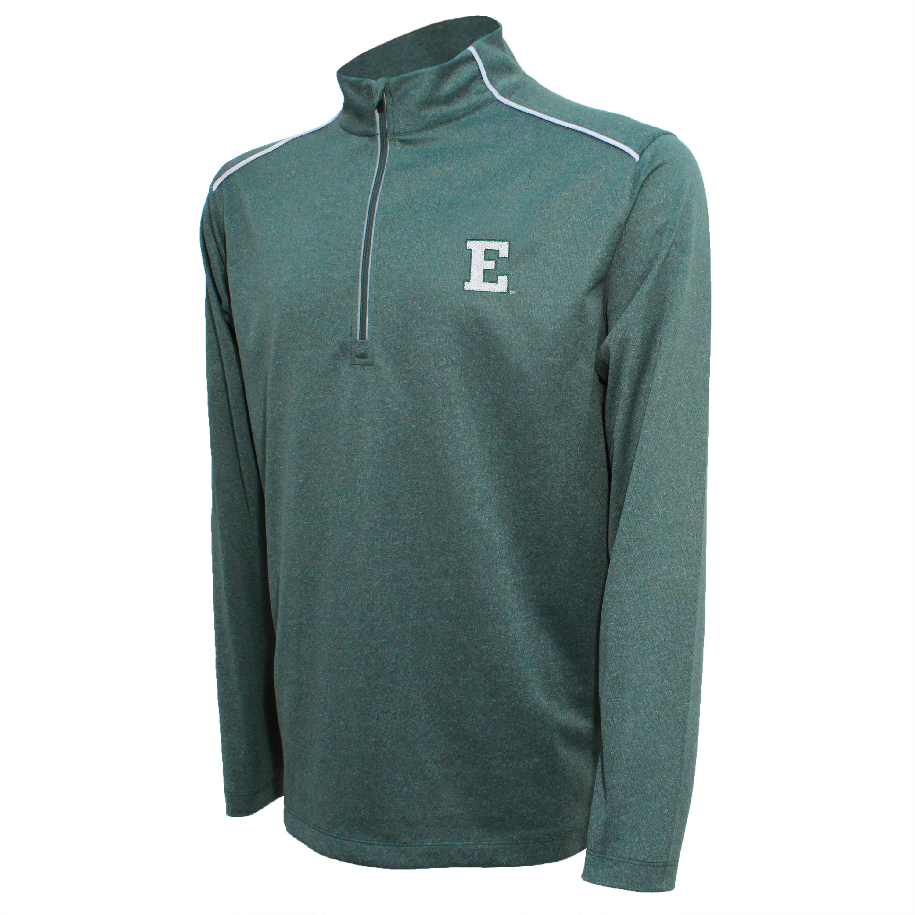 Crable Eastern Michigan Men's Dark Green Quarter Zip With Piping