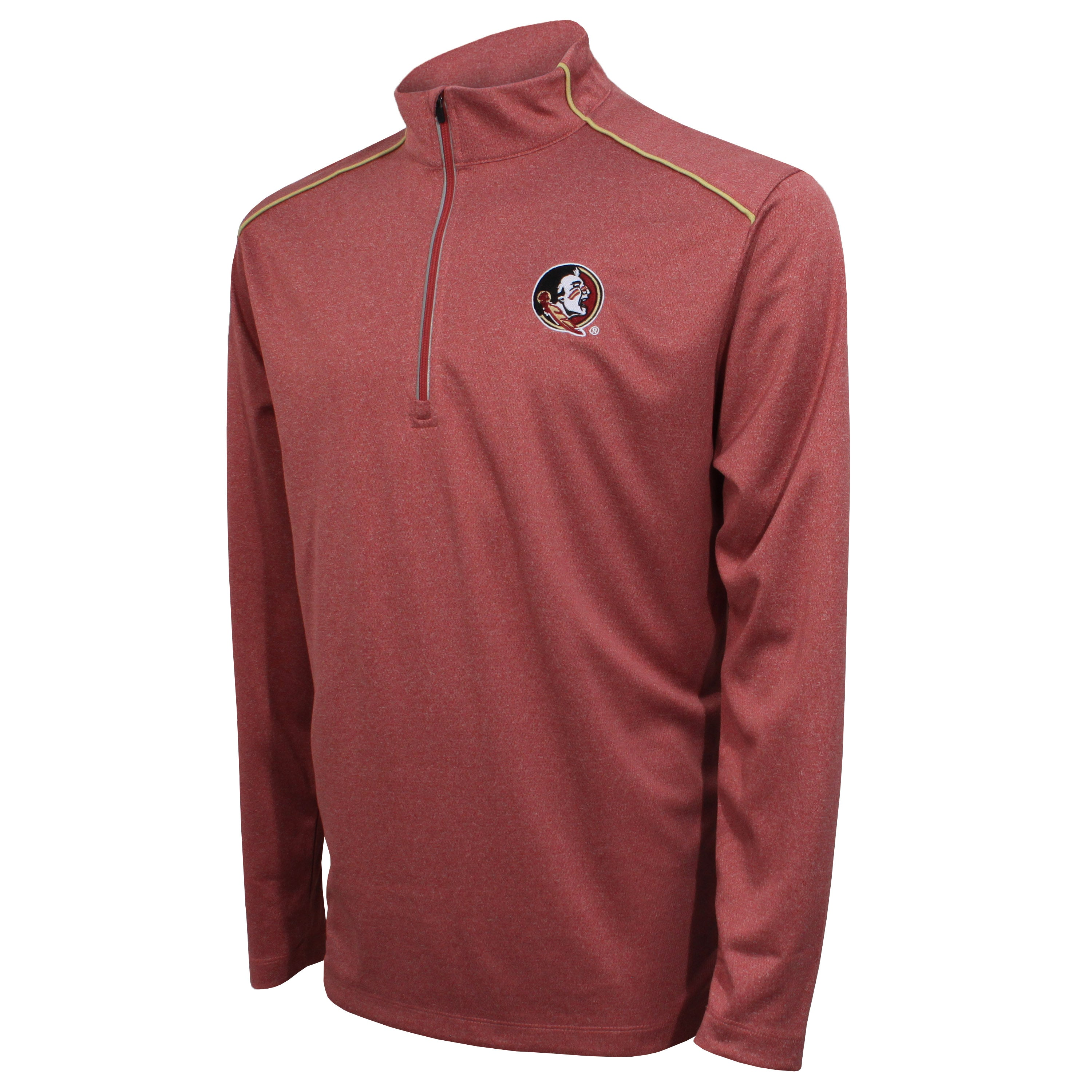 Crable Florida State Men's Garnet Quarter Zip With Piping