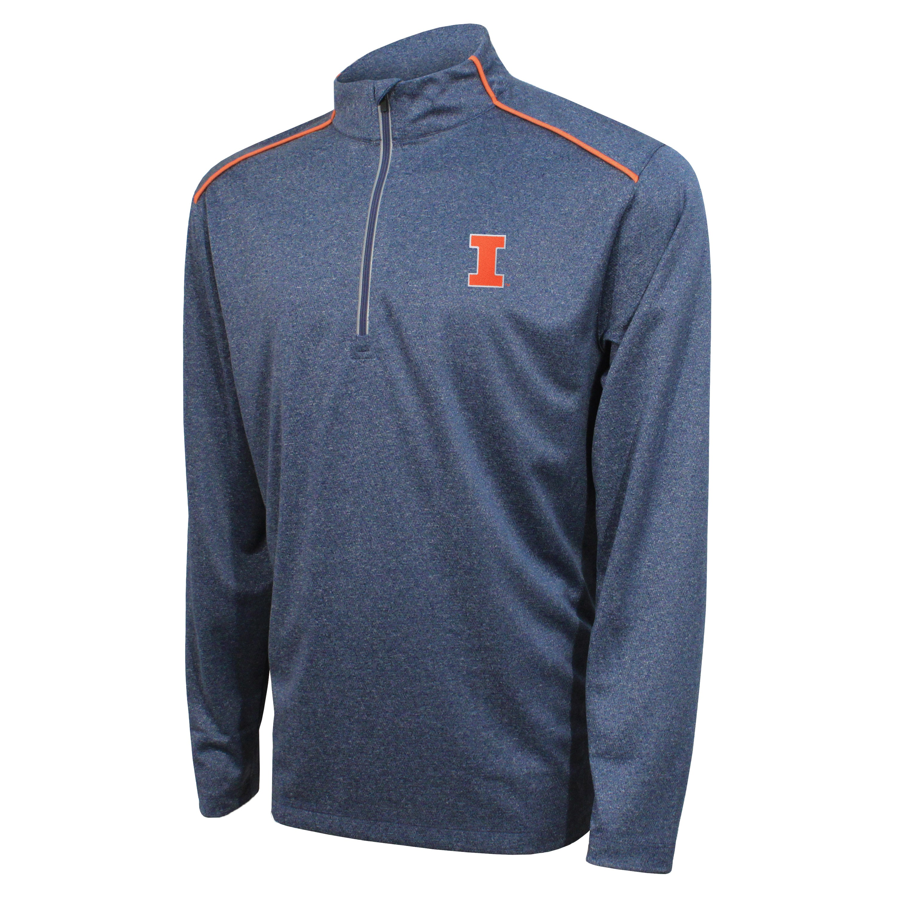 Crable Illinois Men's Navy Quarter Zip With Piping