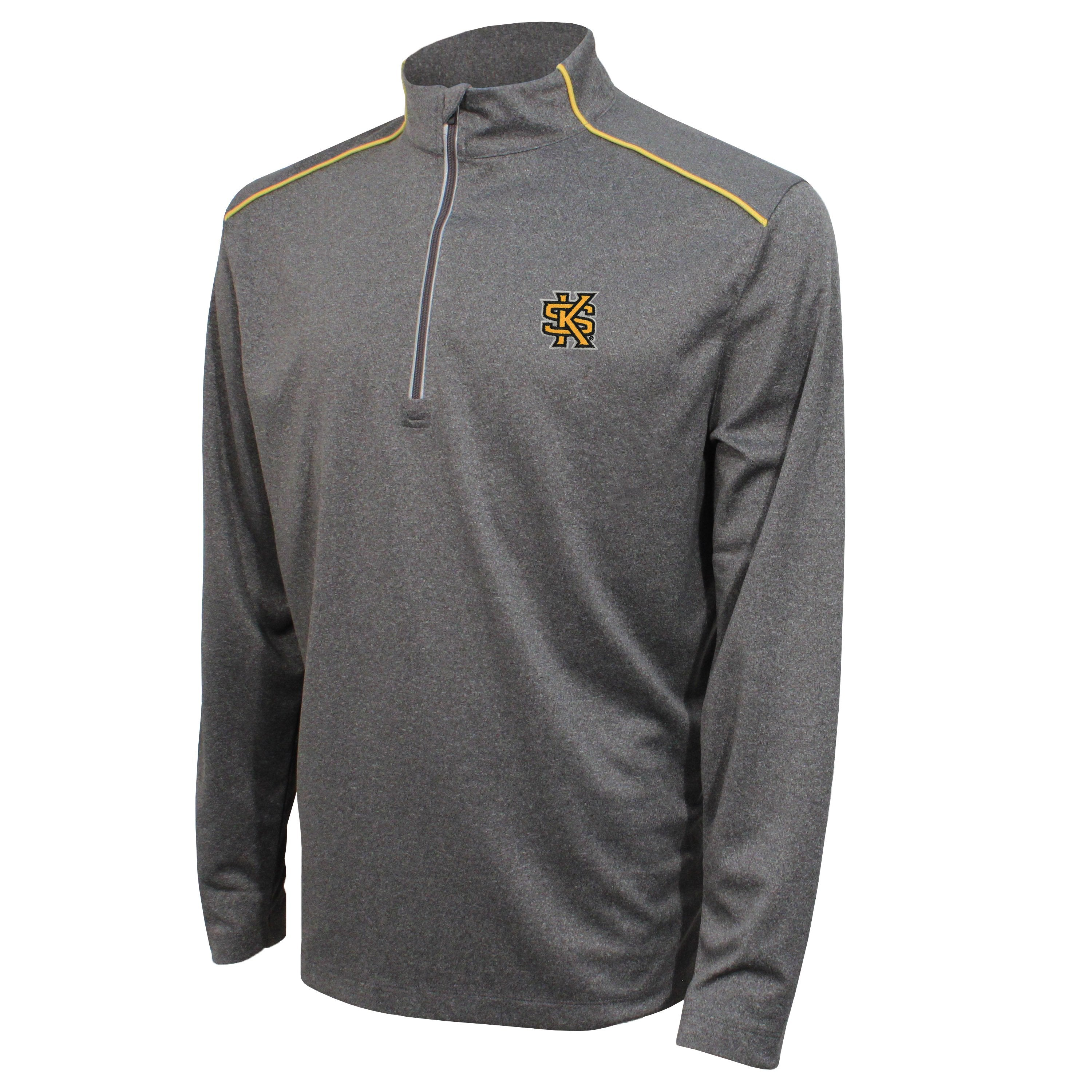 Crable Kennesaw State Men's Black Quarter Zip With Piping