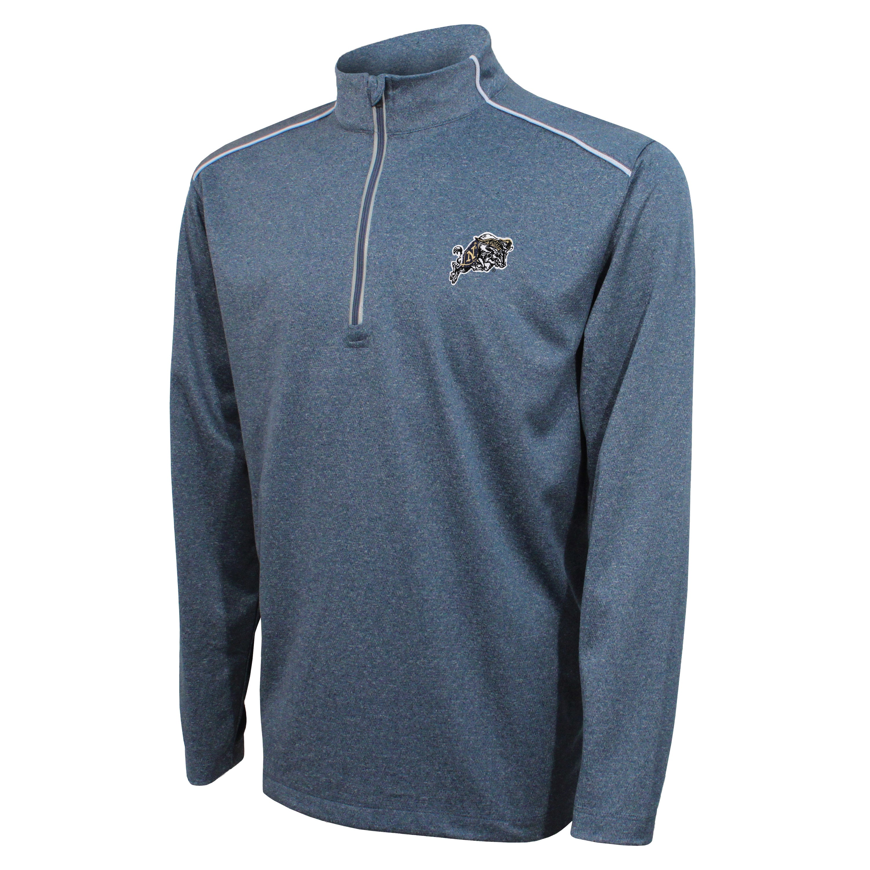 Crable Naval Academy Men's Navy Quarter Zip With Piping