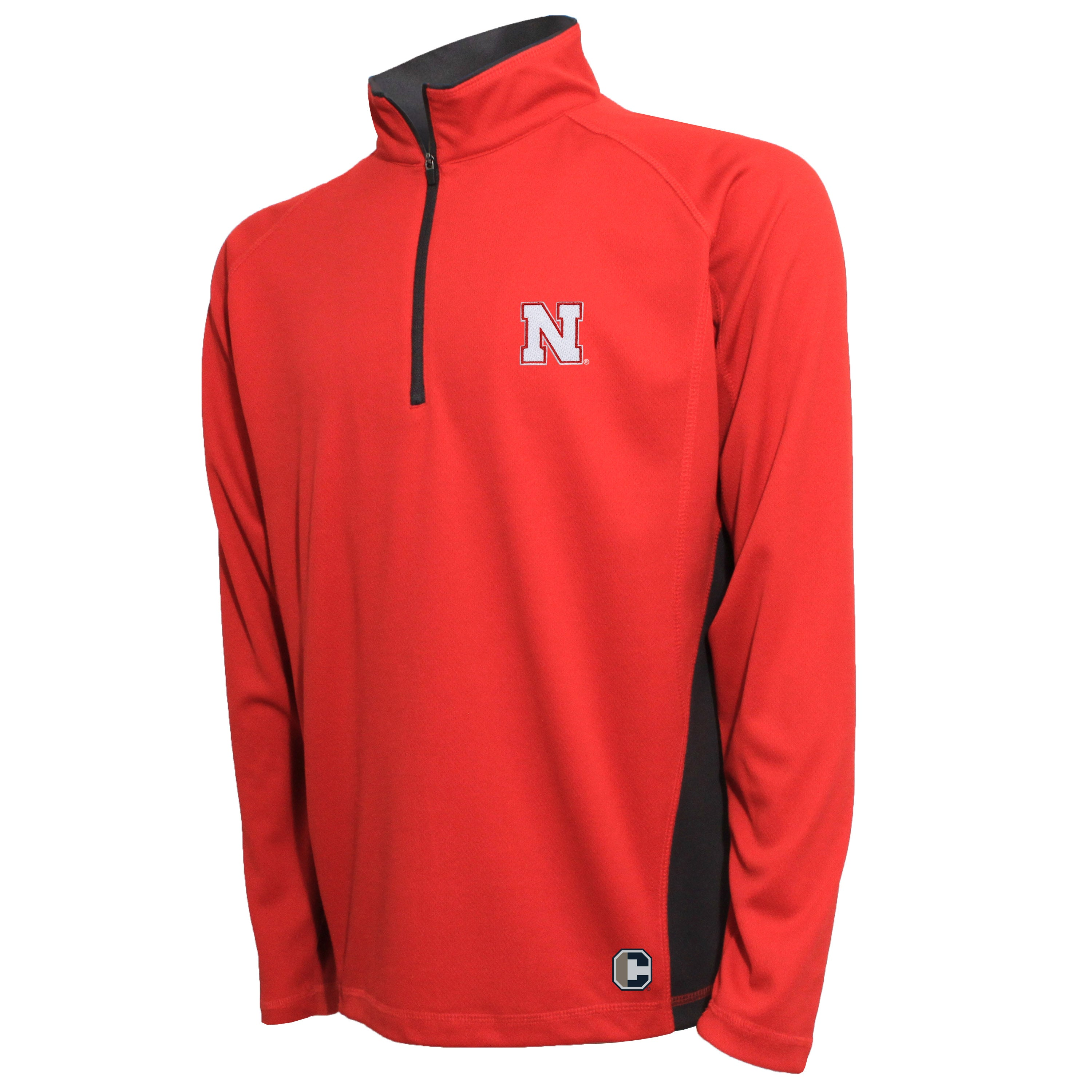Crable Nebraska Men's Red Quarter Zip Pullover