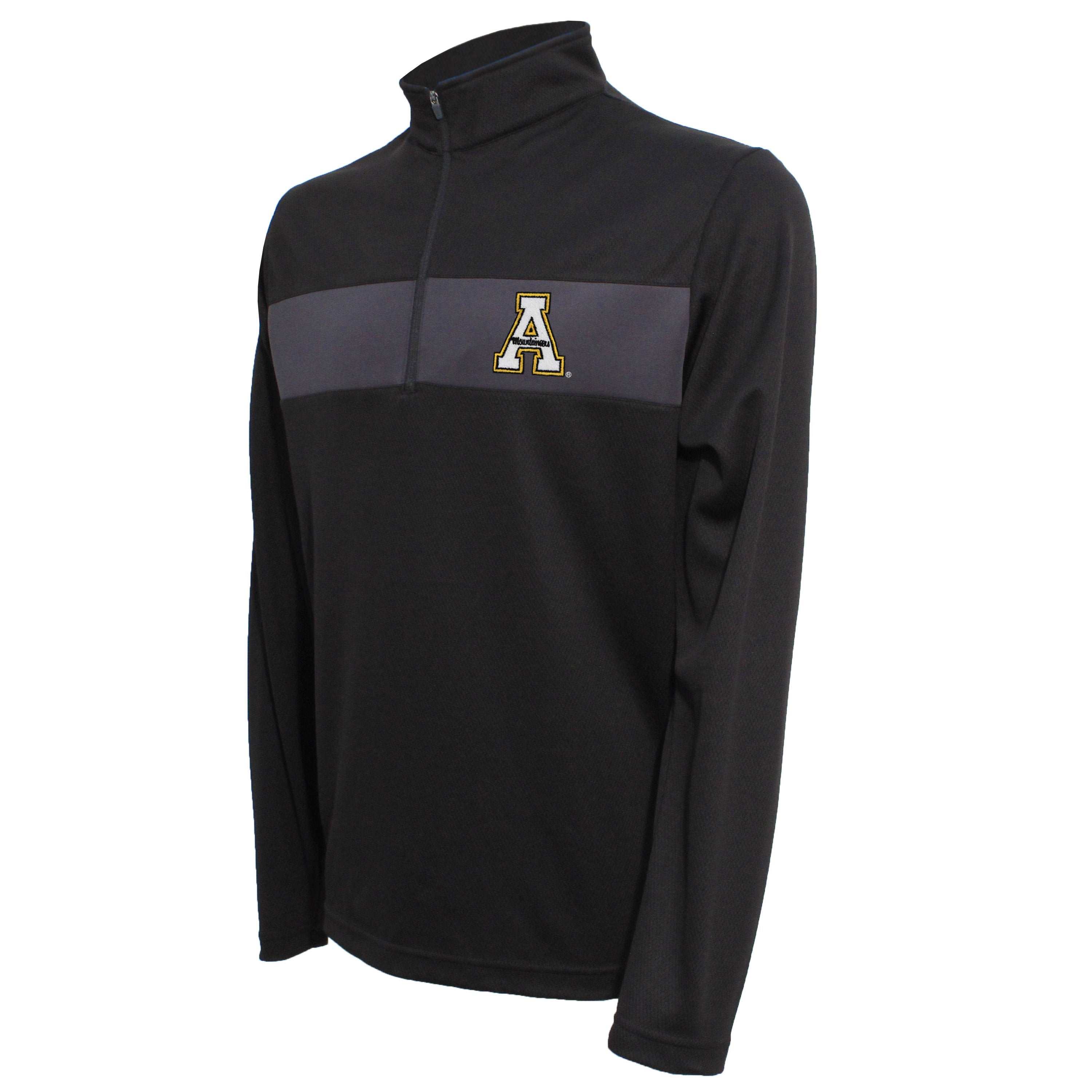 Crable Appalachian State Men's Black Quarter Zip Pullover