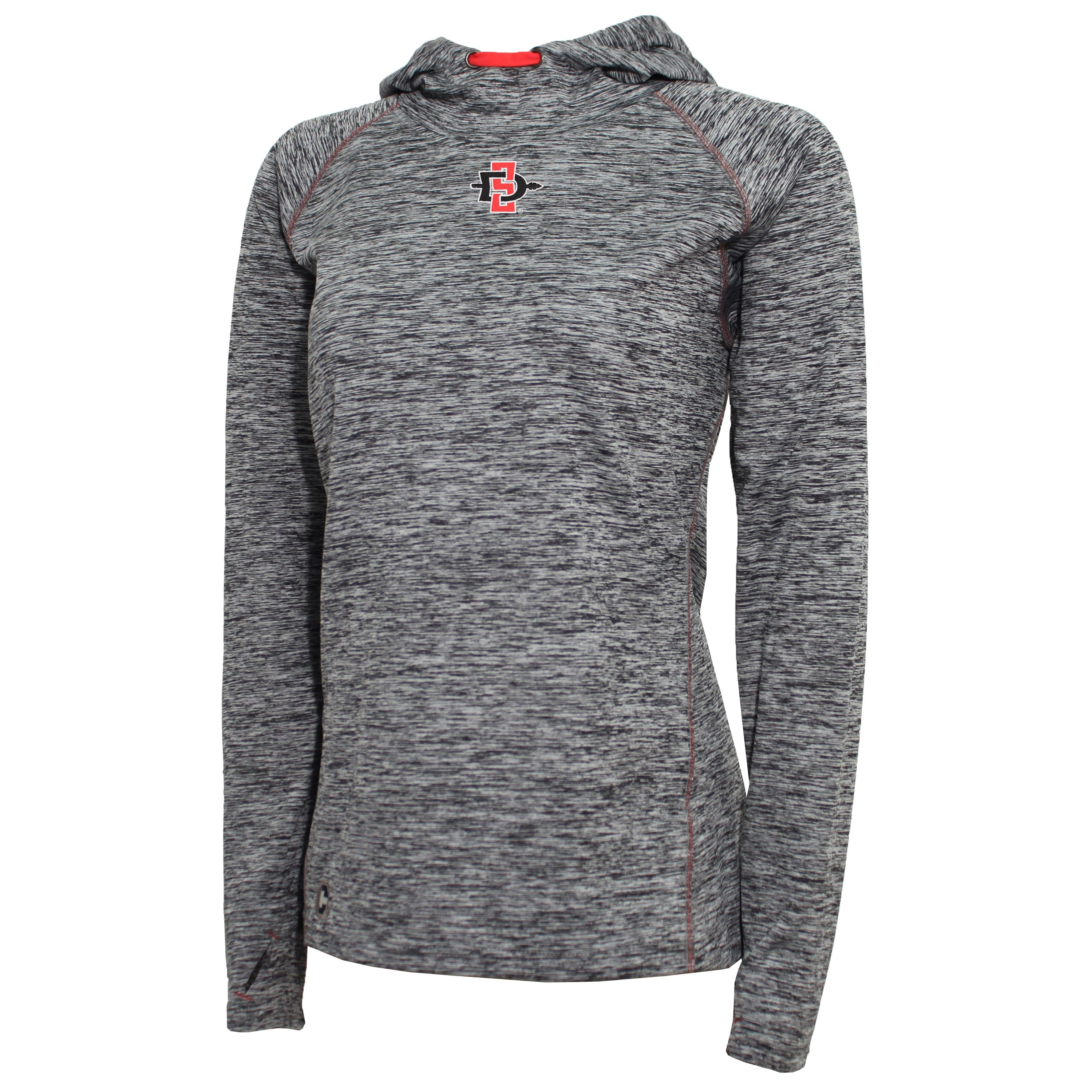 59de8864 Crable San Diego State Women's Black Pullover Hoodie – Club Level Brands
