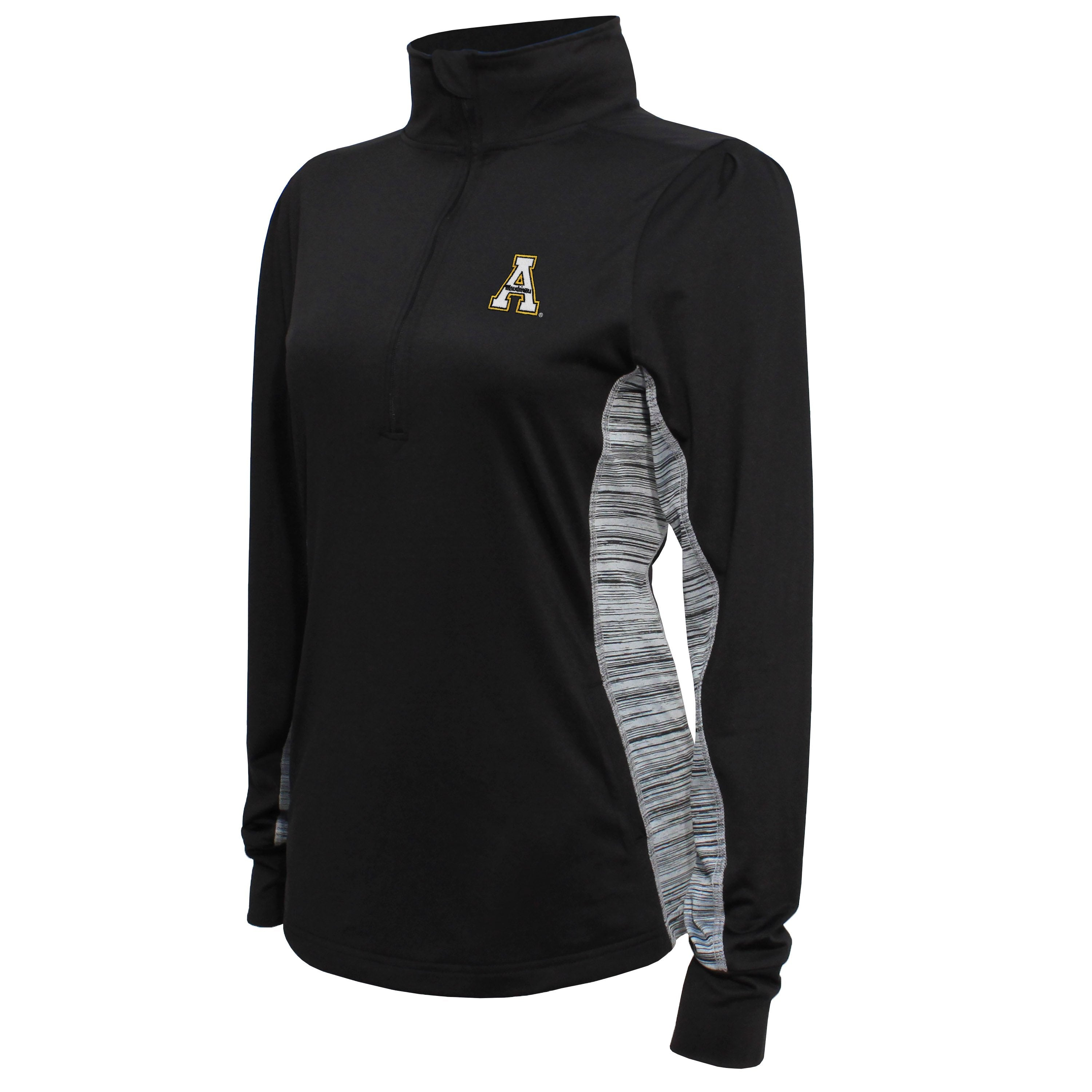 Crable Appalachian State Women's Black Half Zip Tech Pullover