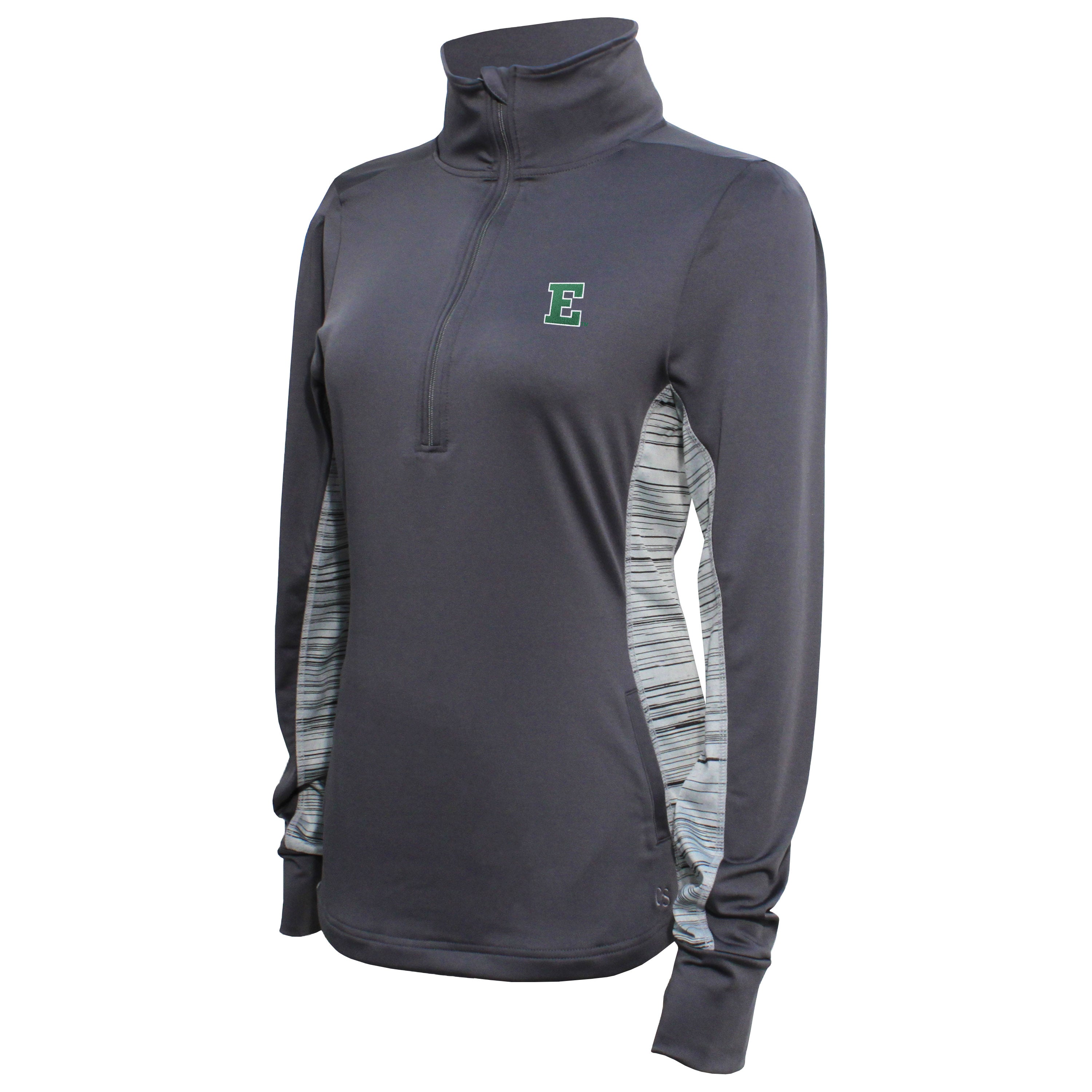 Crable Eastern Michigan Women's Carbon Half Zip Tech Pullover