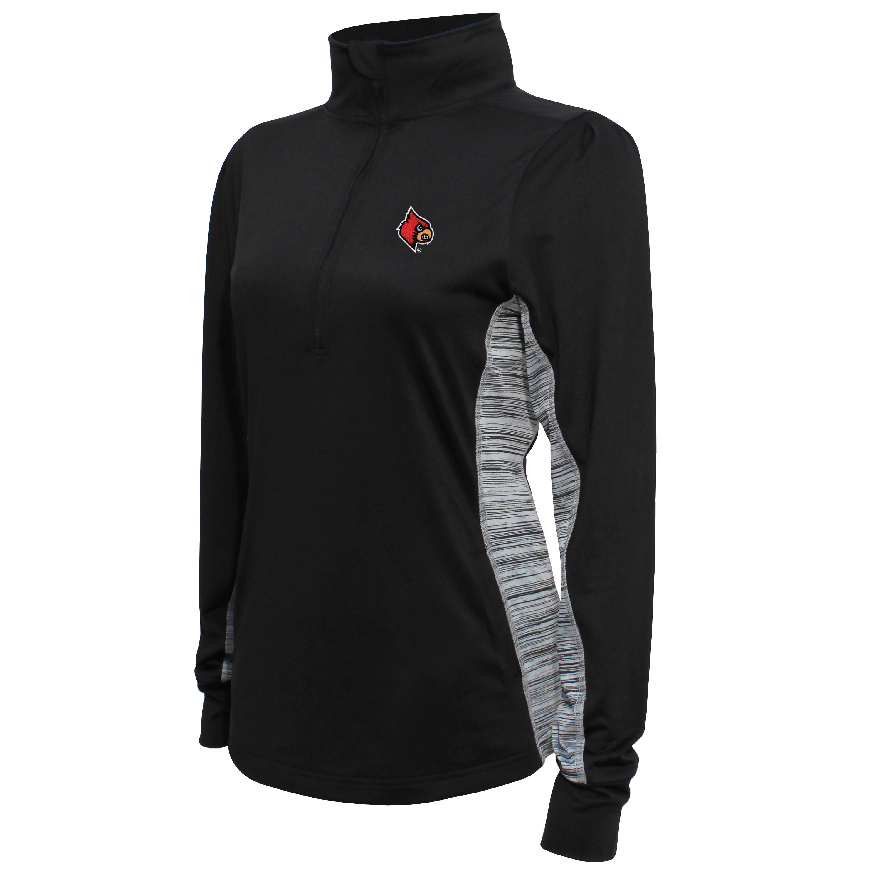 Crable Louisville Women's Black Half Zip Tech Pullover