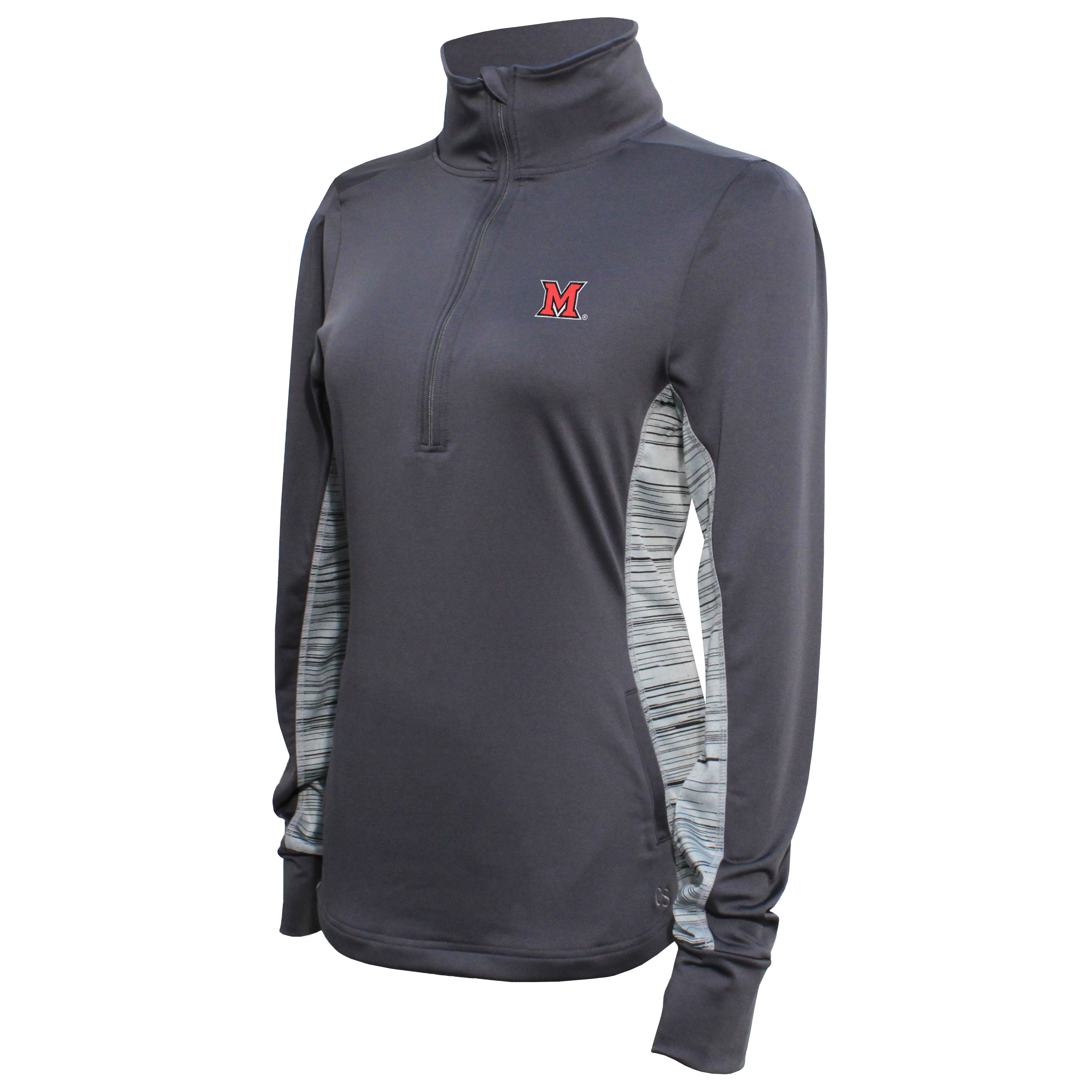 Crable Miami Women's Carbon Half Zip Tech Pullover