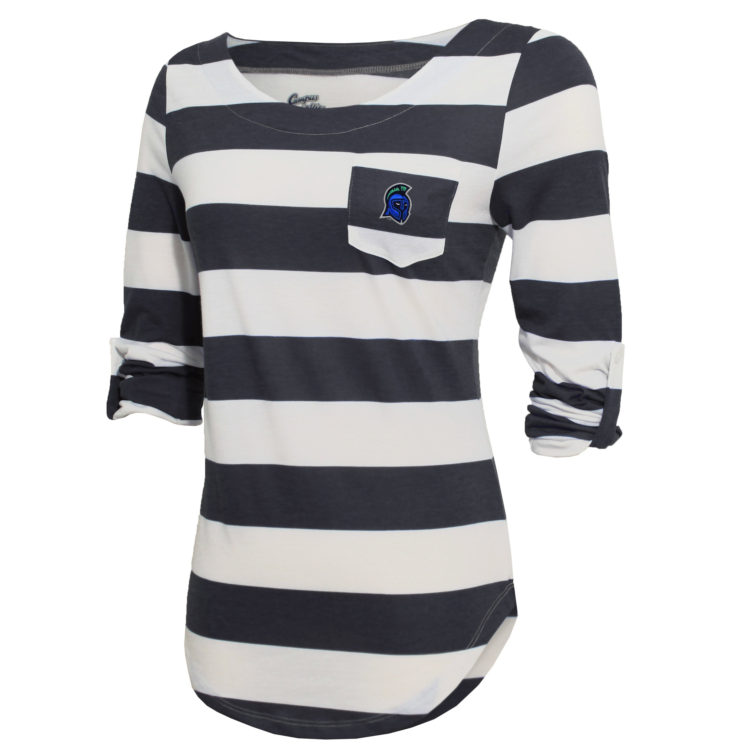 Campus Specialties West Florida Women's Gray Striped Pocket Top