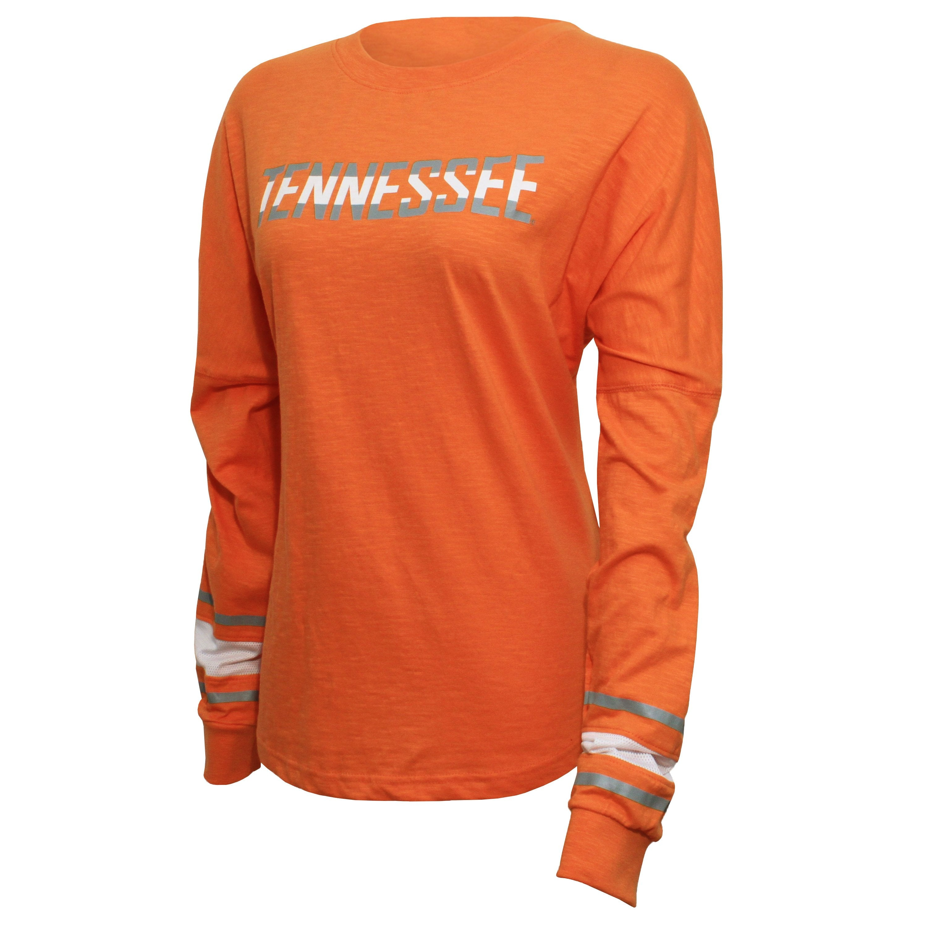 Campus Specialties Tennessee Women's Tennessee Orange Striped Sleeve Top