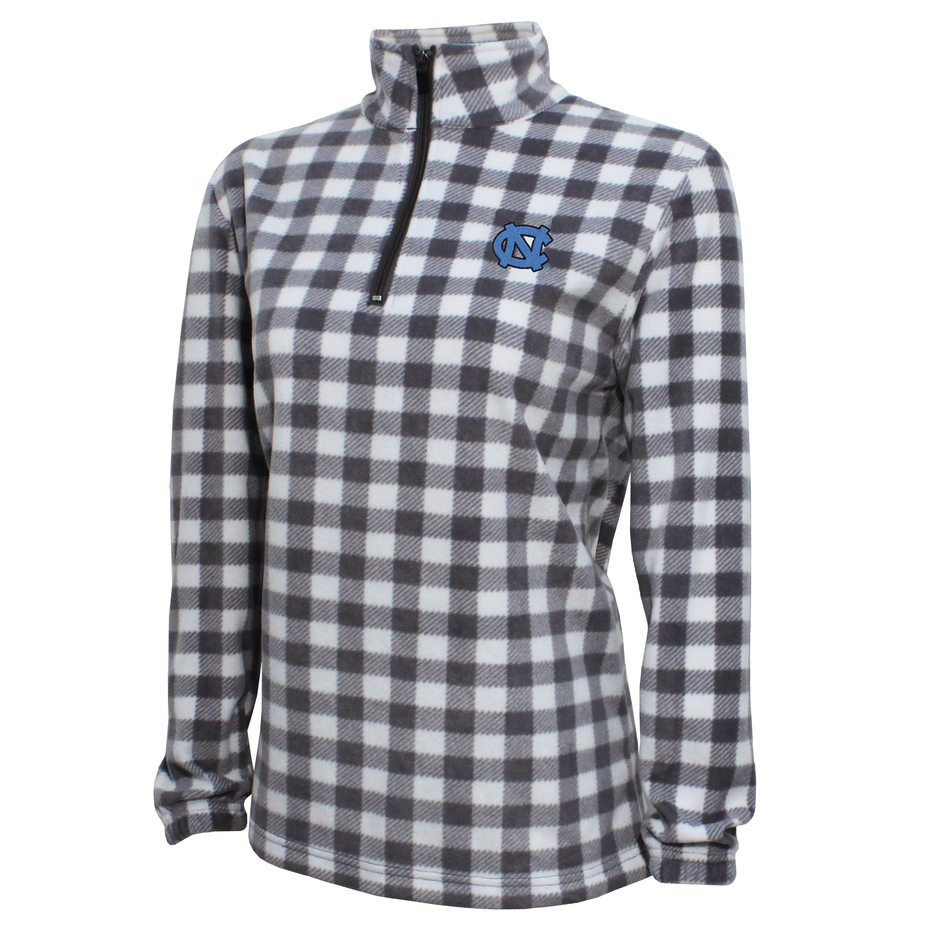 Campus Specialties North Carolina Women's Gray Buffalo Check Fleece