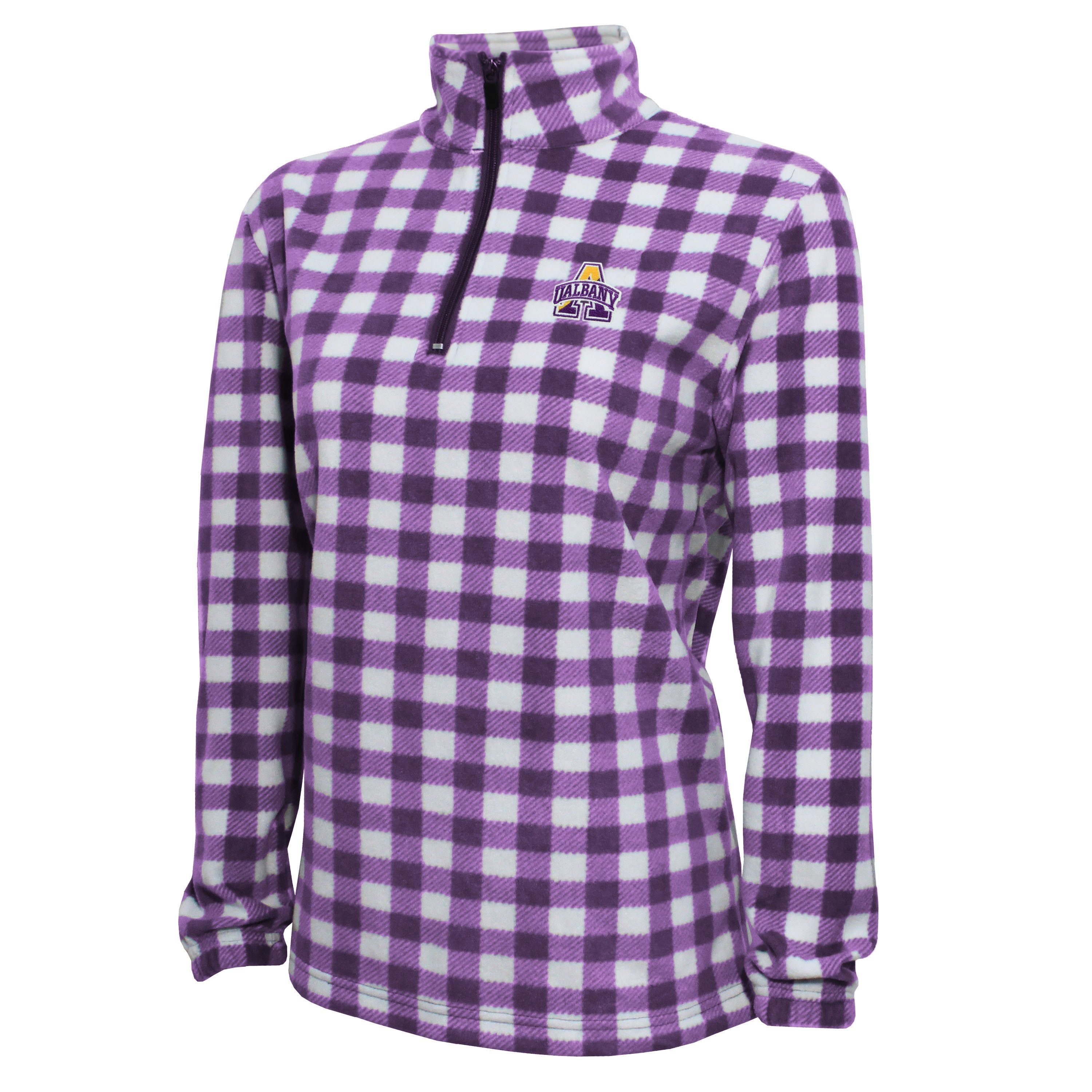 Campus Specialties University At Albany Women's Purple Buffalo Check Fleece