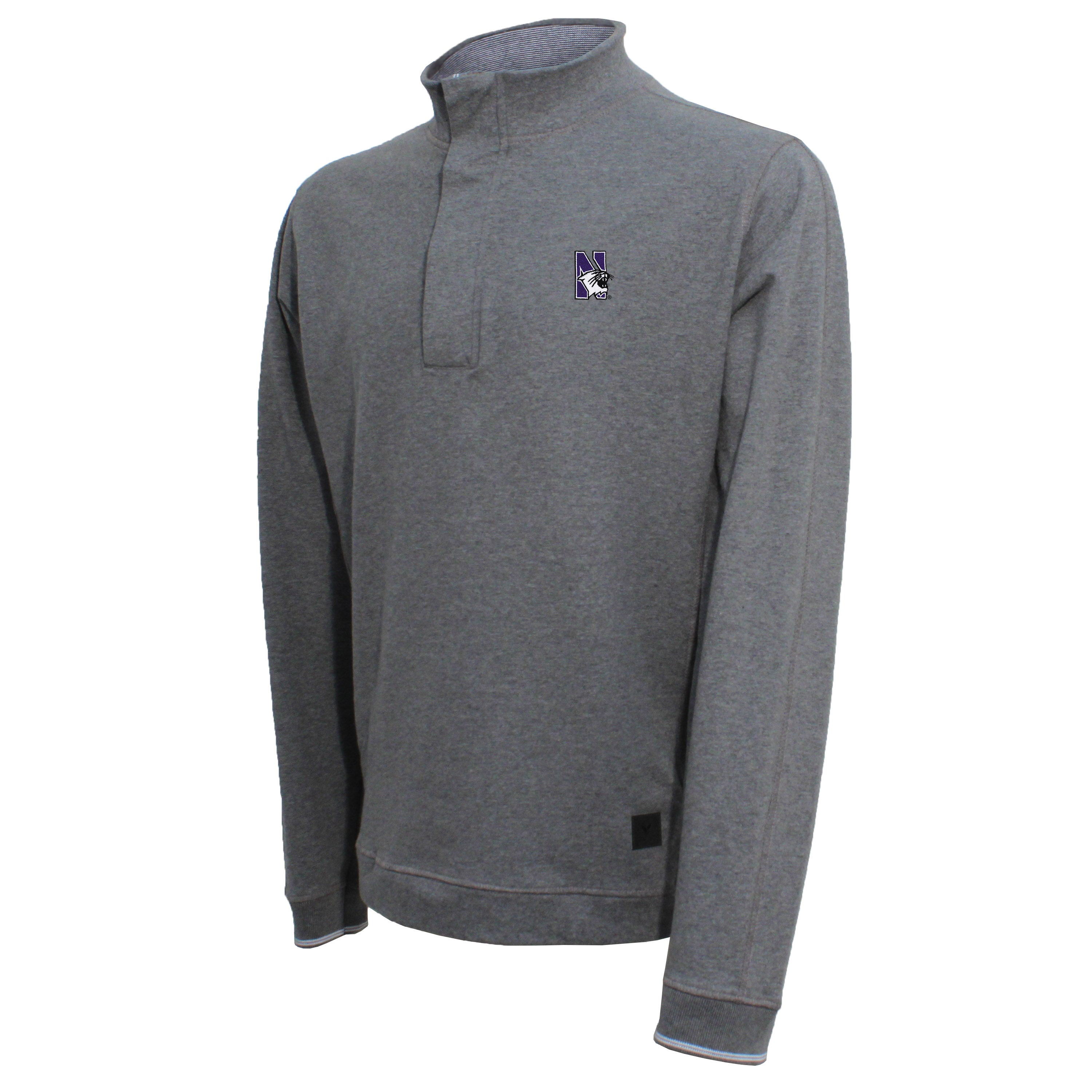 Vesi Northwestern Men's Gray Quarter Zip Pullover