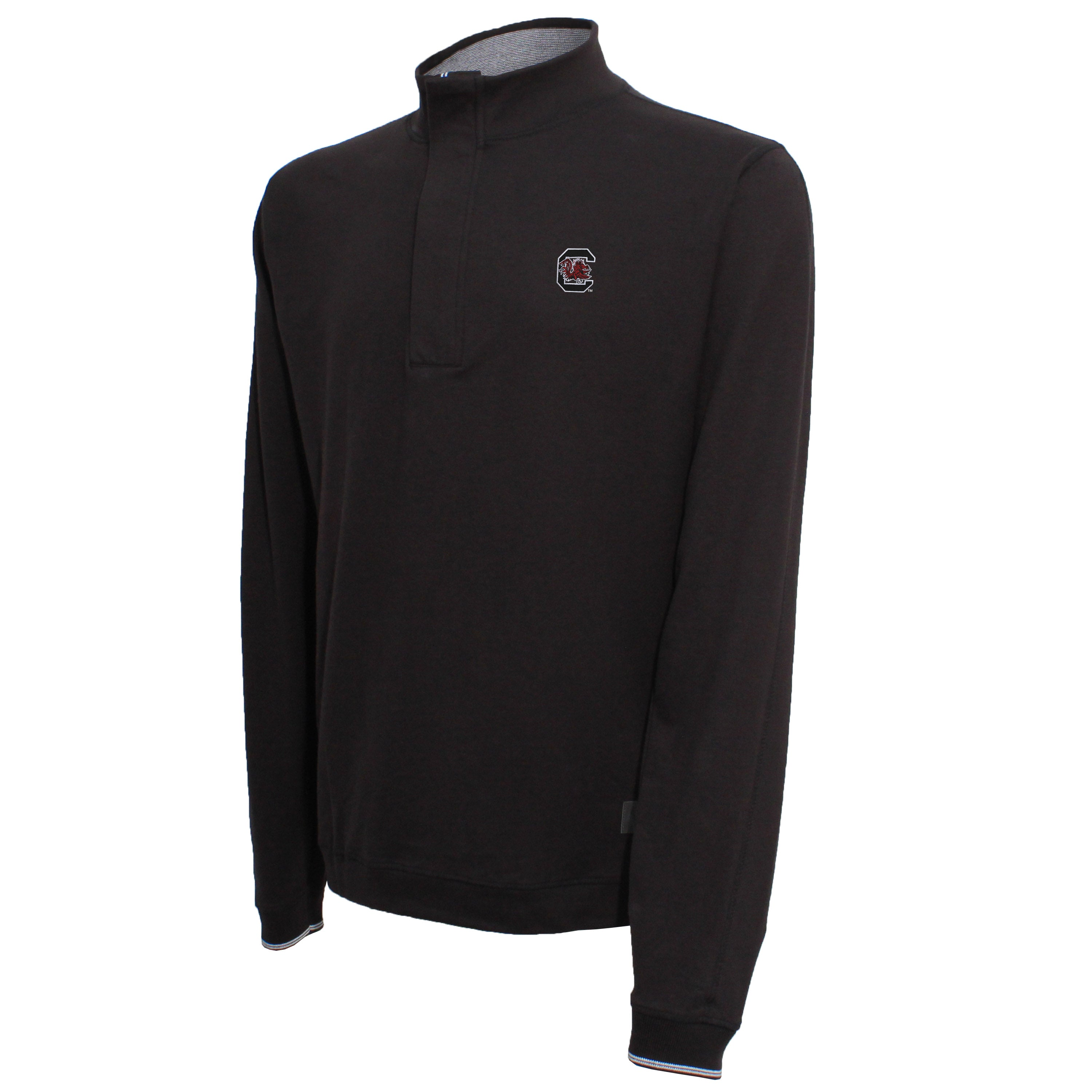 Vesi South Carolina Men's Black Quarter Zip Pullover