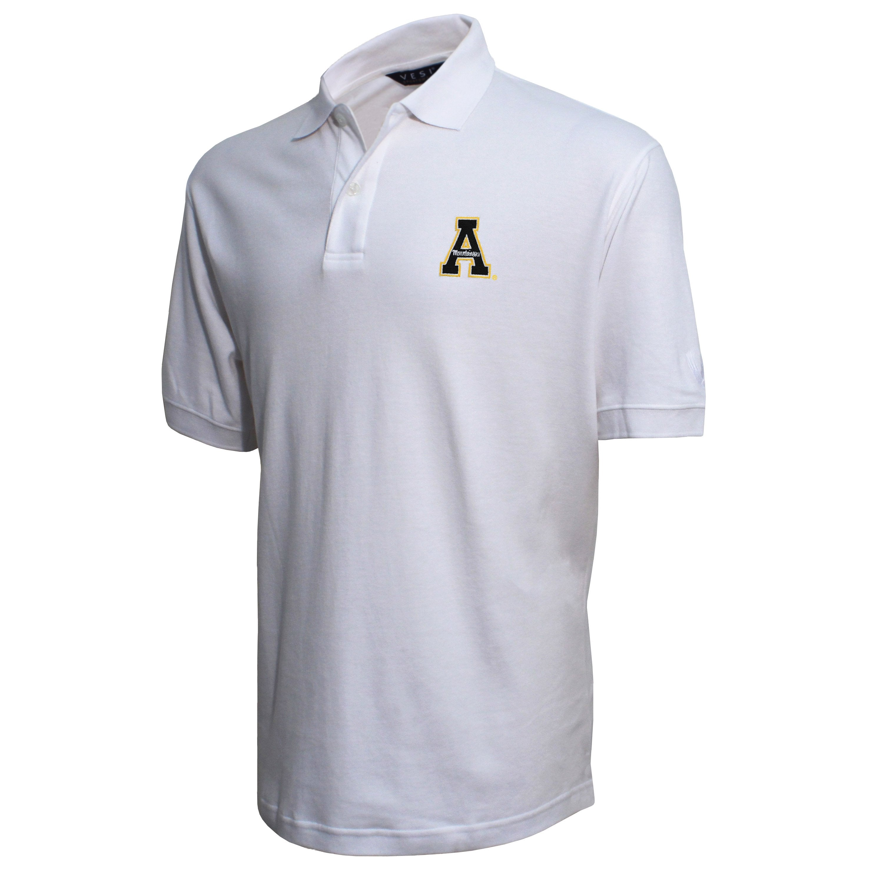 Vesi Appalachian State Men's White Pique Polo Shirt