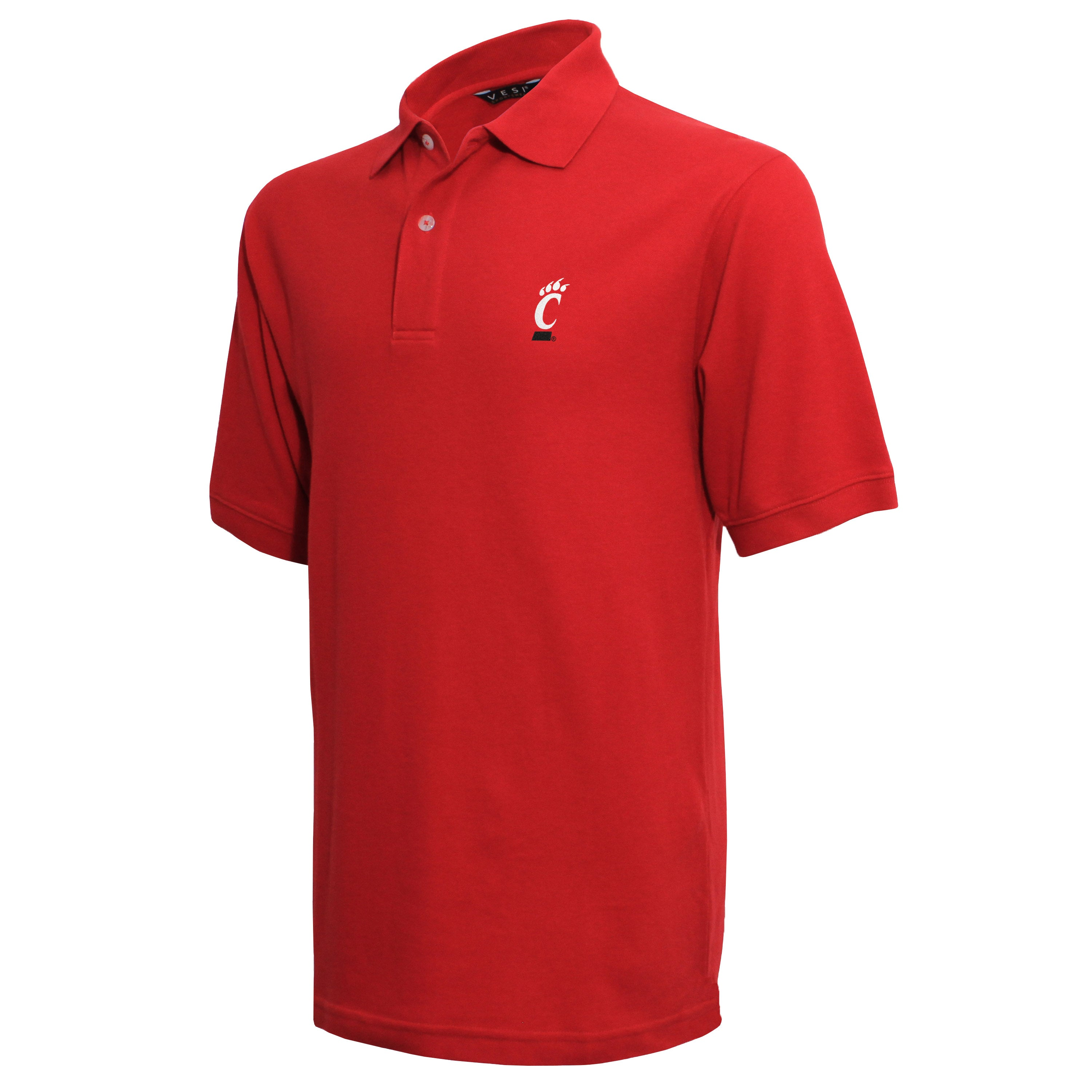 Vesi Cincinnati Men's Red Pique Polo Shirt