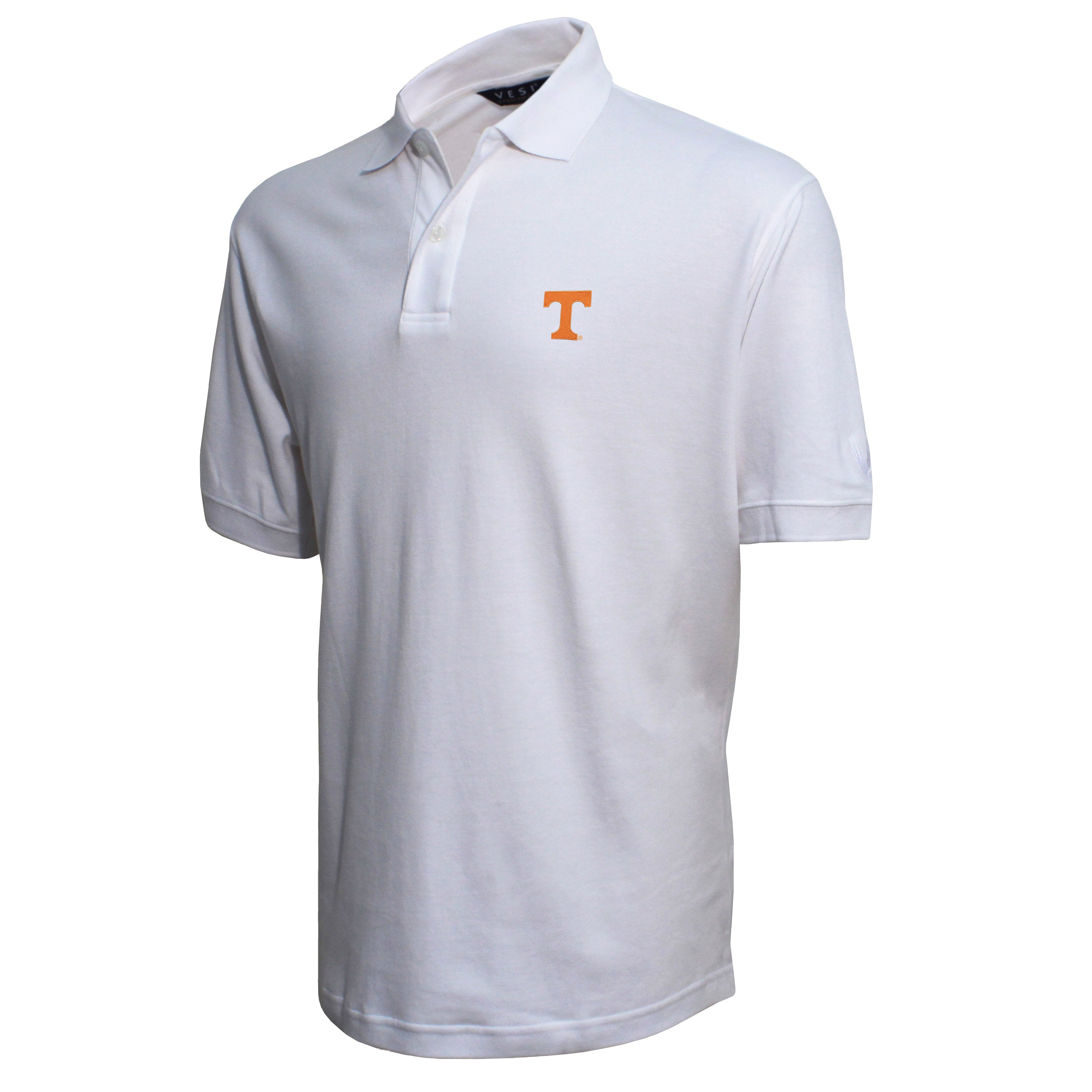 Vesi Tennessee Men's White Pique Polo Shirt