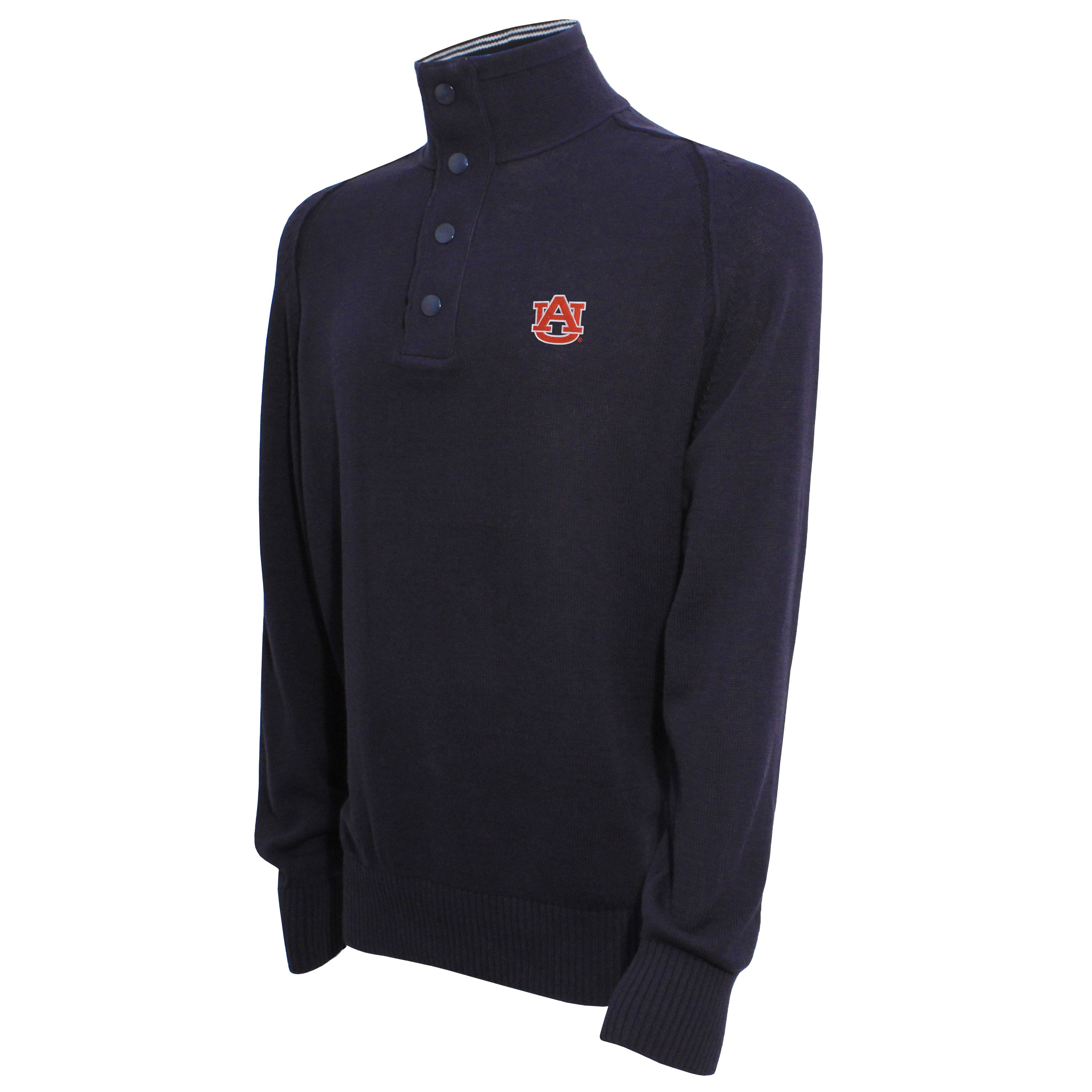 Vesi Auburn Men's Navy Quarter Zip Sweater