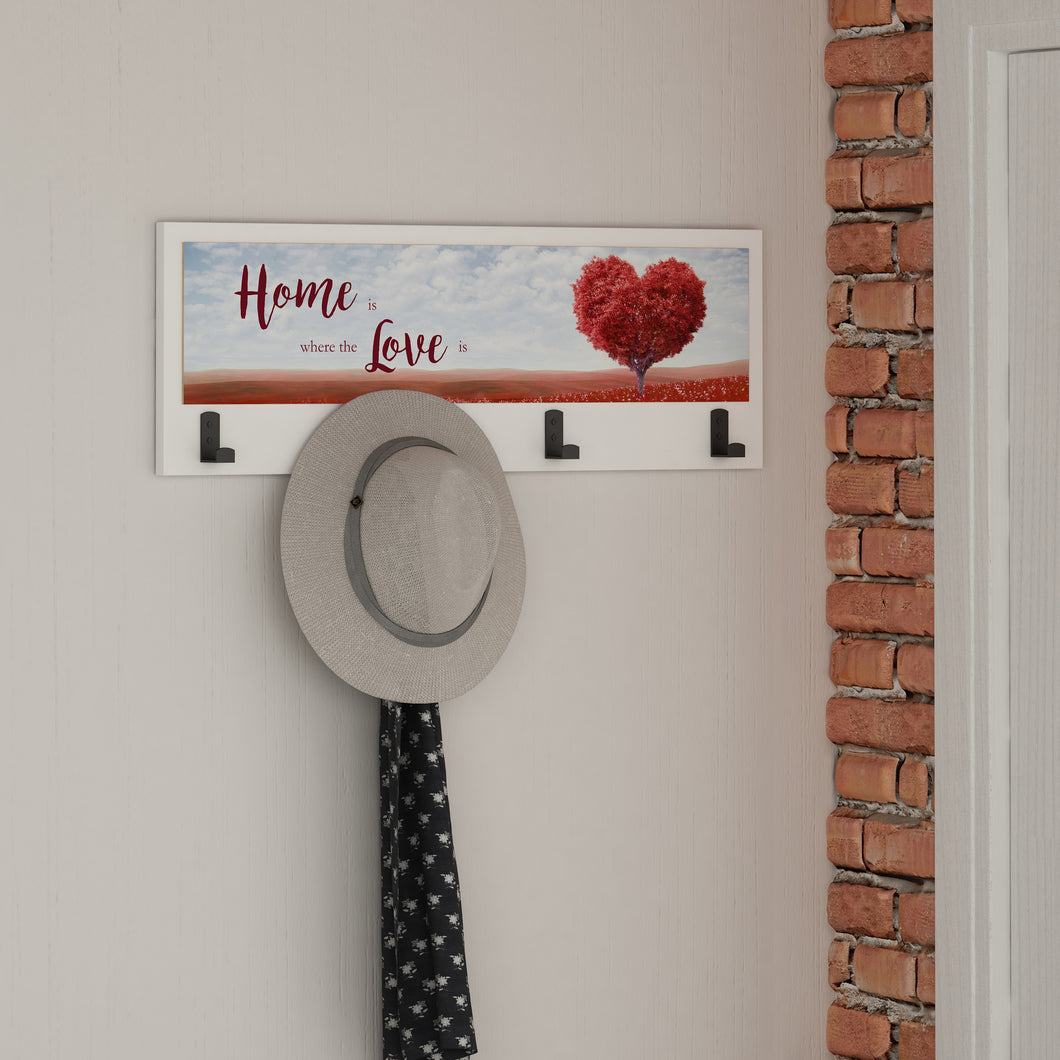 Hearts Home Wallart Beyaz - No.25