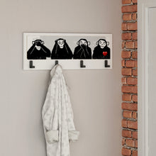 4 Monkeys Wallart Beyaz - No.31