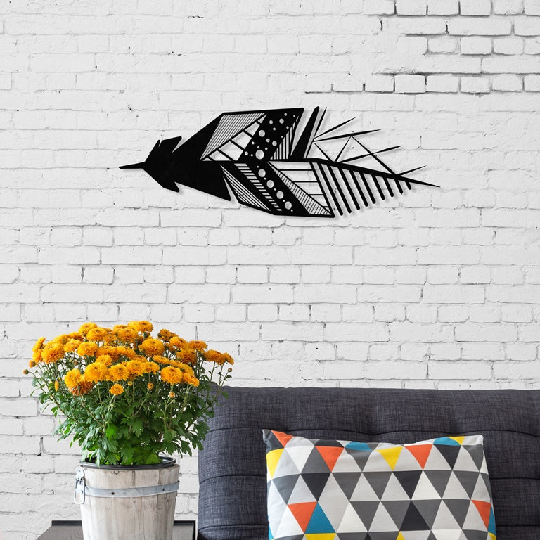 Feather Metal Wall Accessory